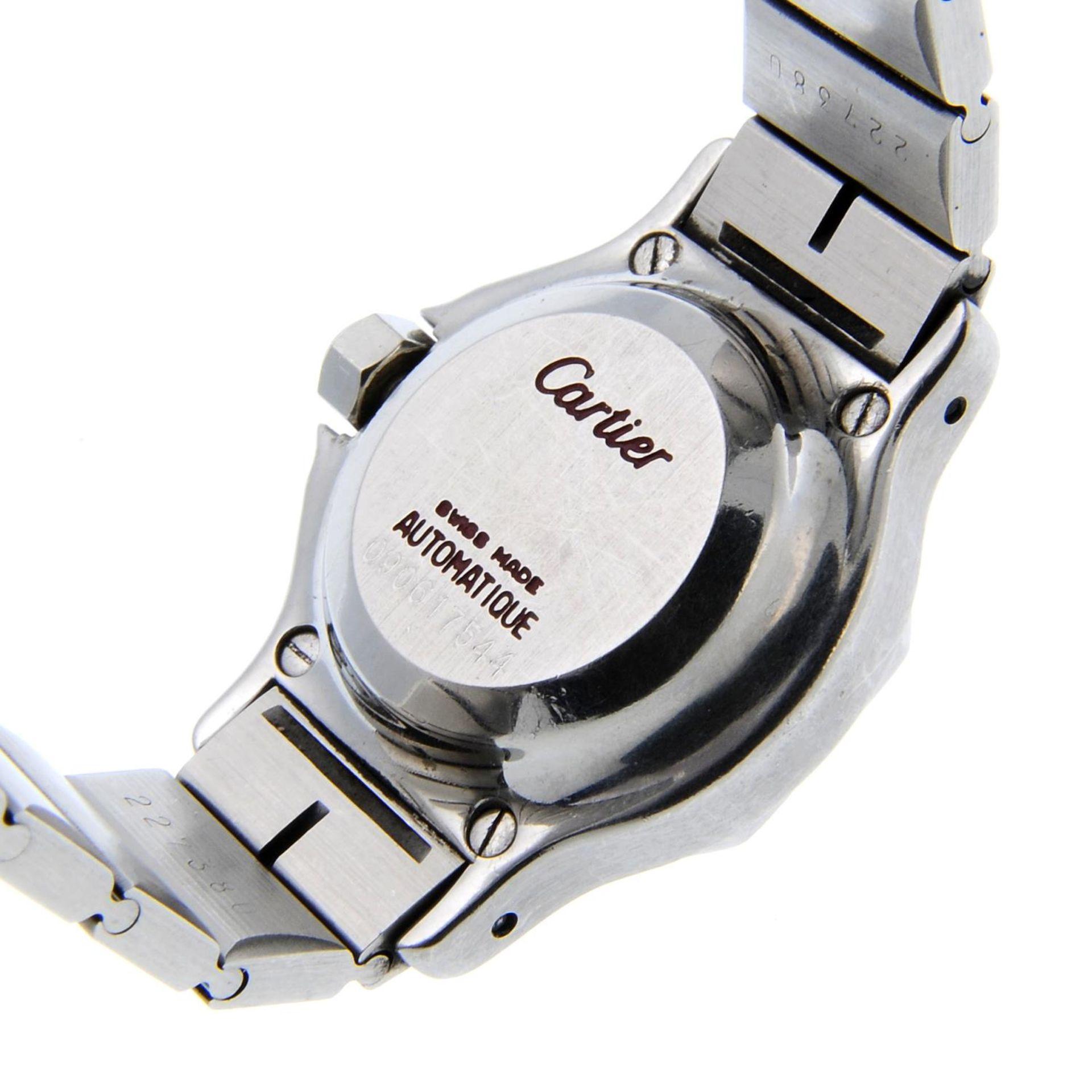 CARTIER - a Santos Ronde braceletwatch. - Bild 4 aus 4