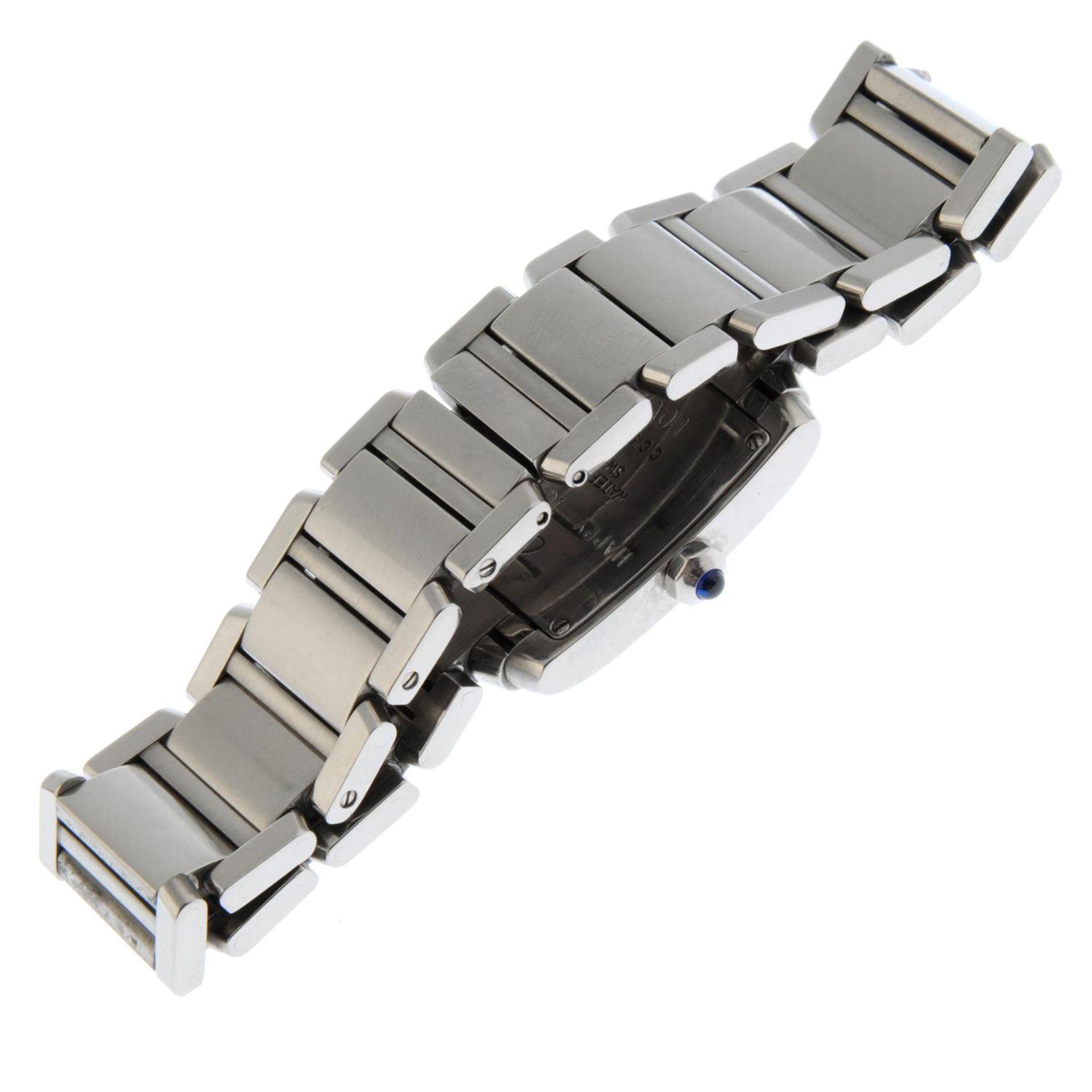 CARTIER - a Tank Francaise bracelet watch. - Bild 4 aus 5