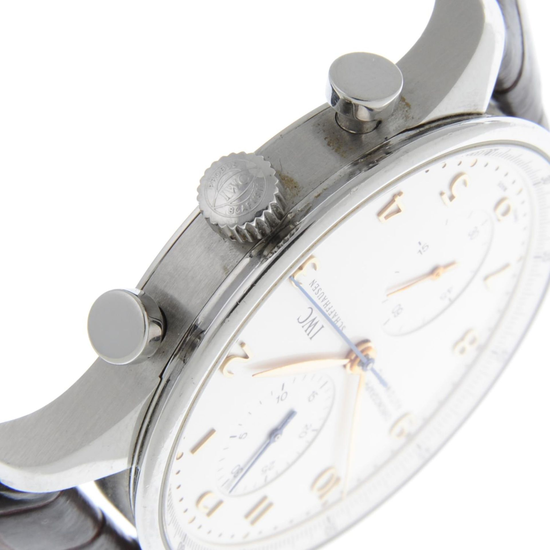 IWC - a Portuguese chronograph wrist watch. - Bild 5 aus 6