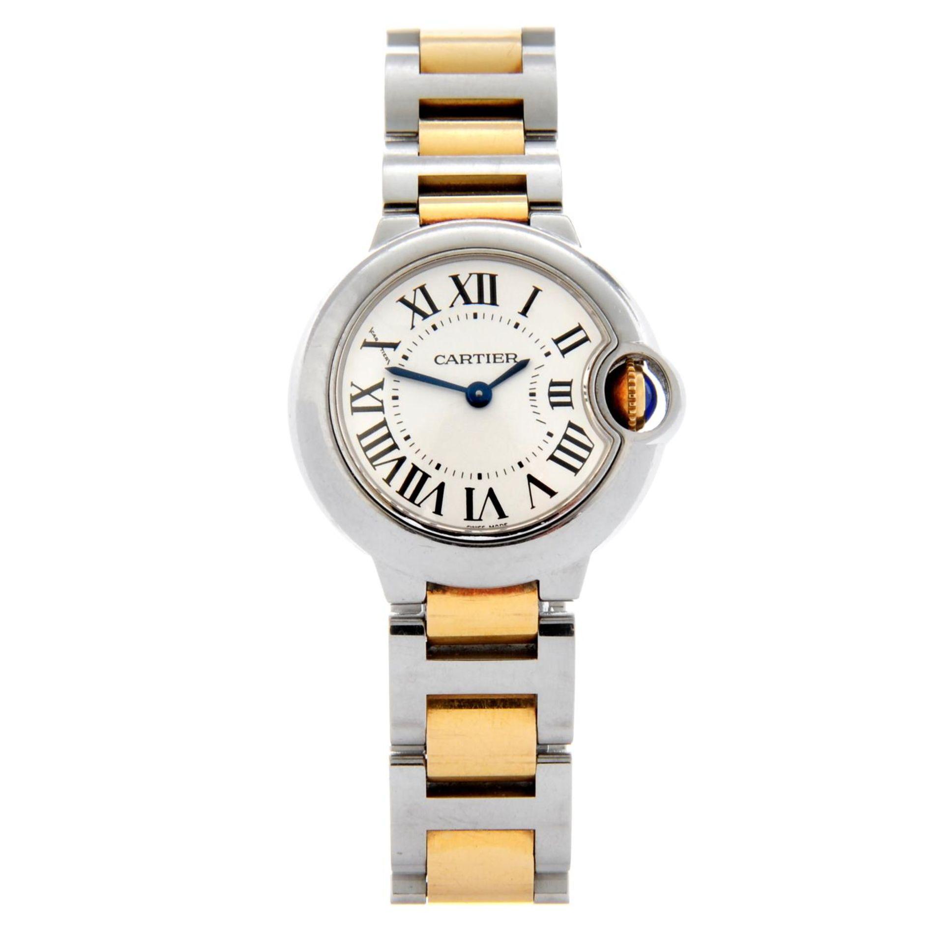 CARTIER - a Ballon Bleu bracelet watch.