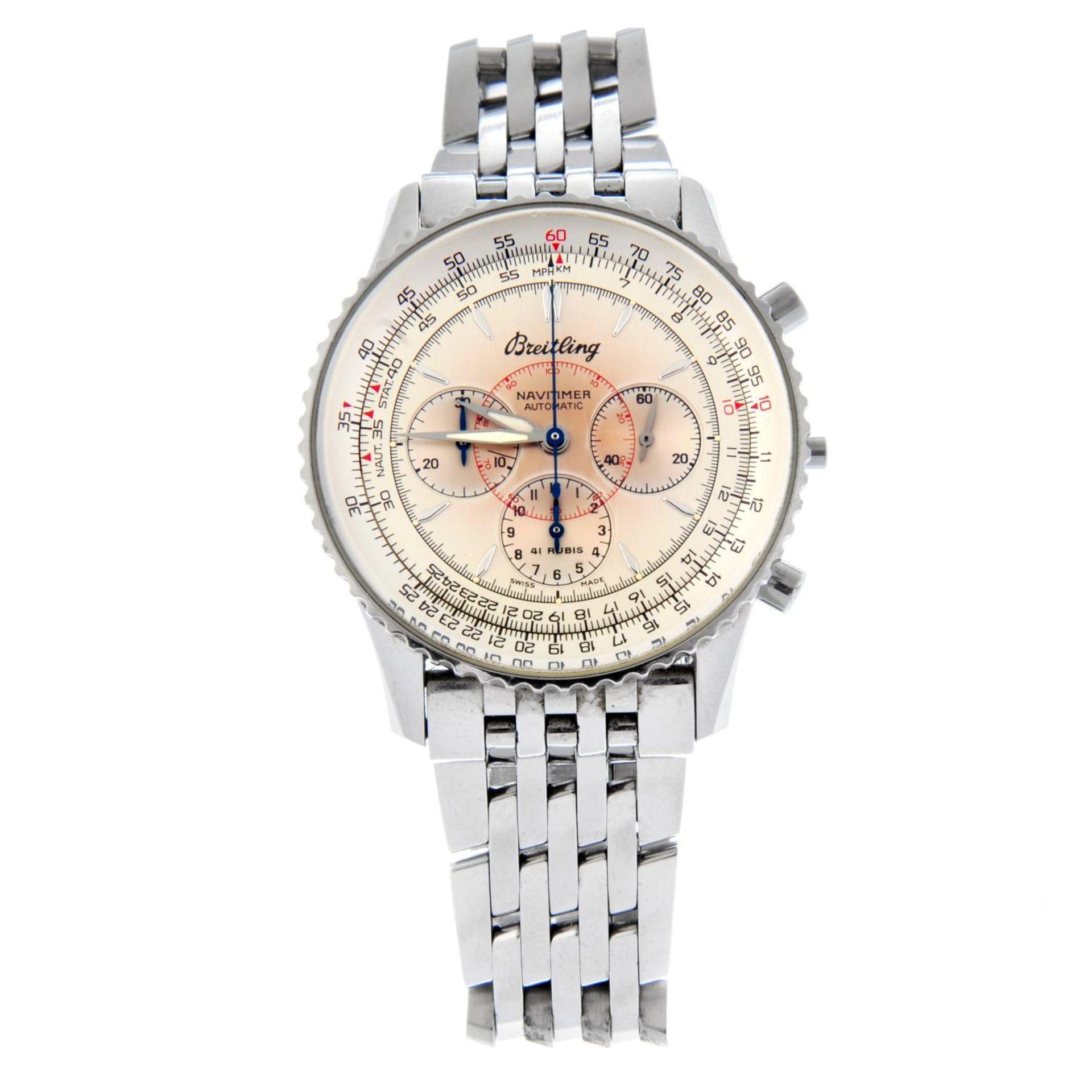 BREITLING - a Navitimer Montbrilliant bracelet watch.