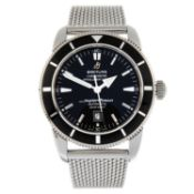 BREITLING - a SuperOcean Heritage 46 bracelet watch.