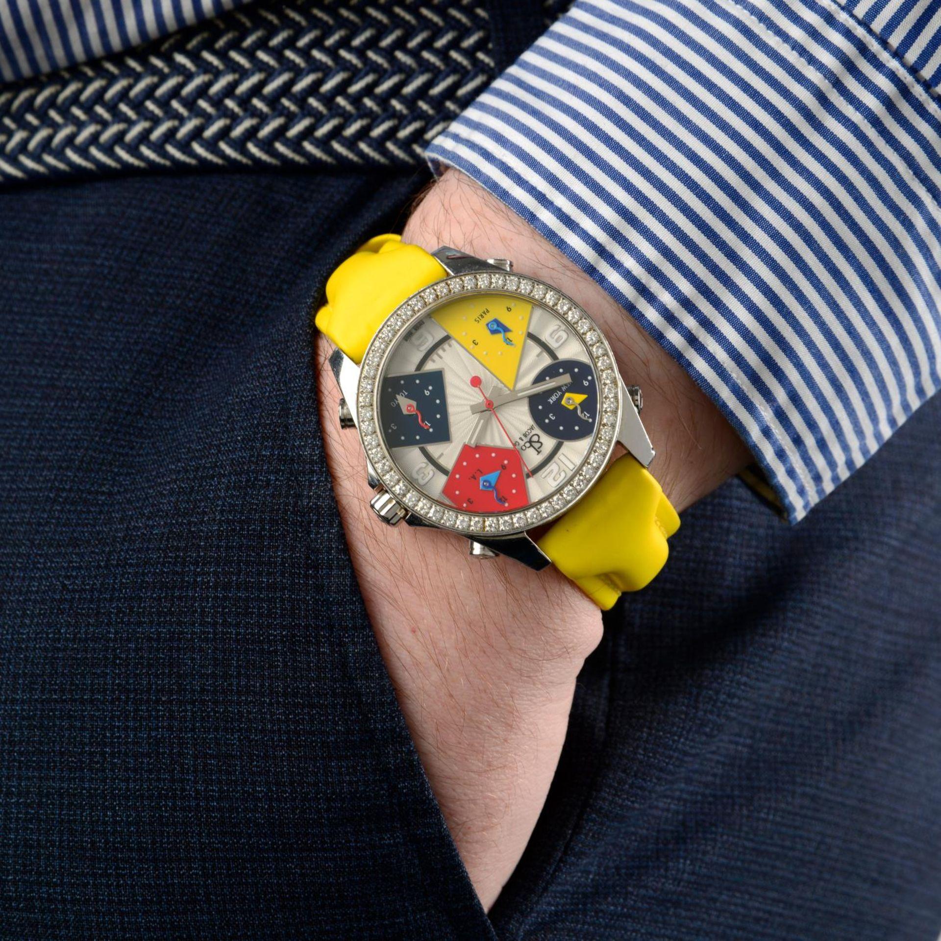 JACOB & CO. - a Five Time Zone wrist watch. - Bild 7 aus 8