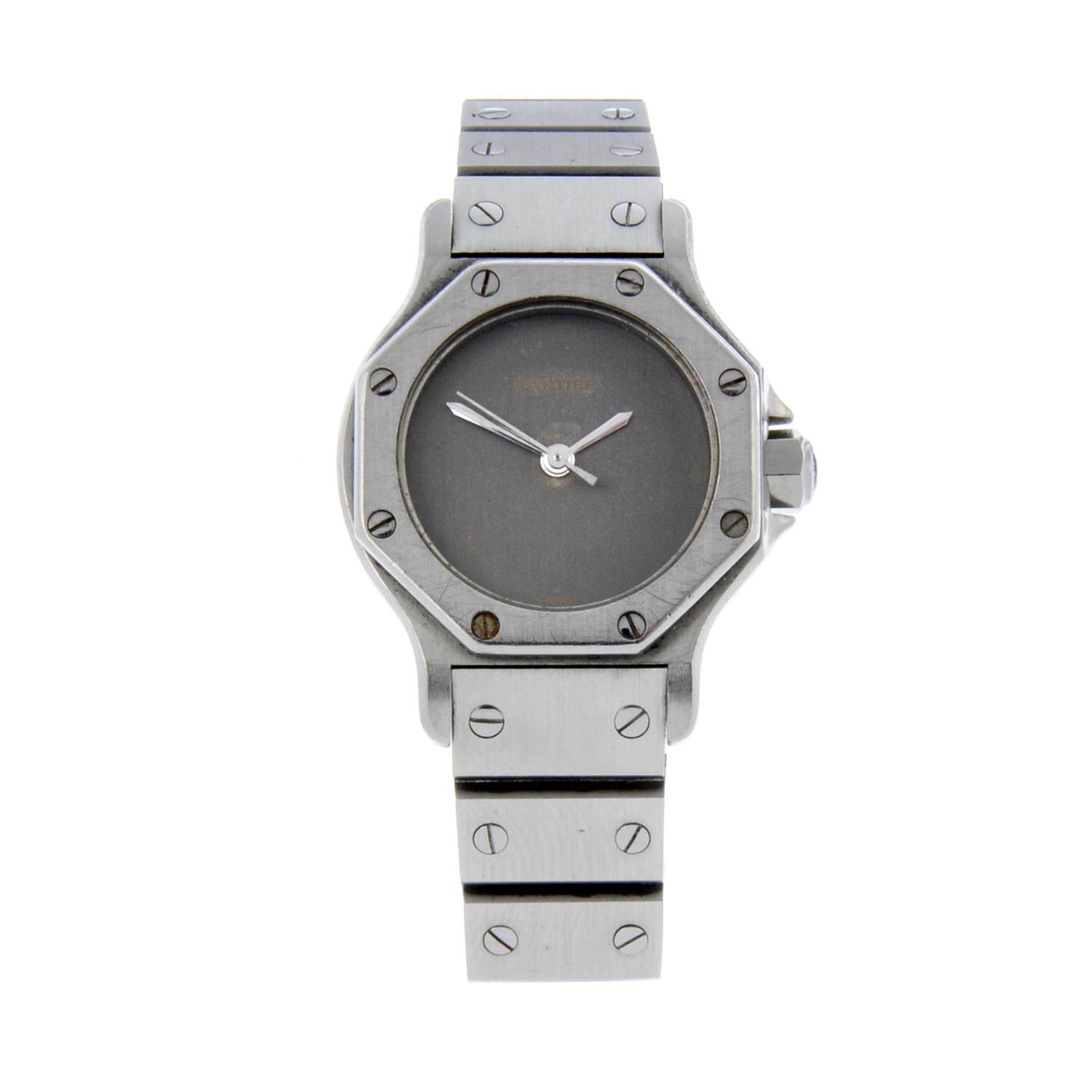 CARTIER - a Santos Ronde braceletwatch.