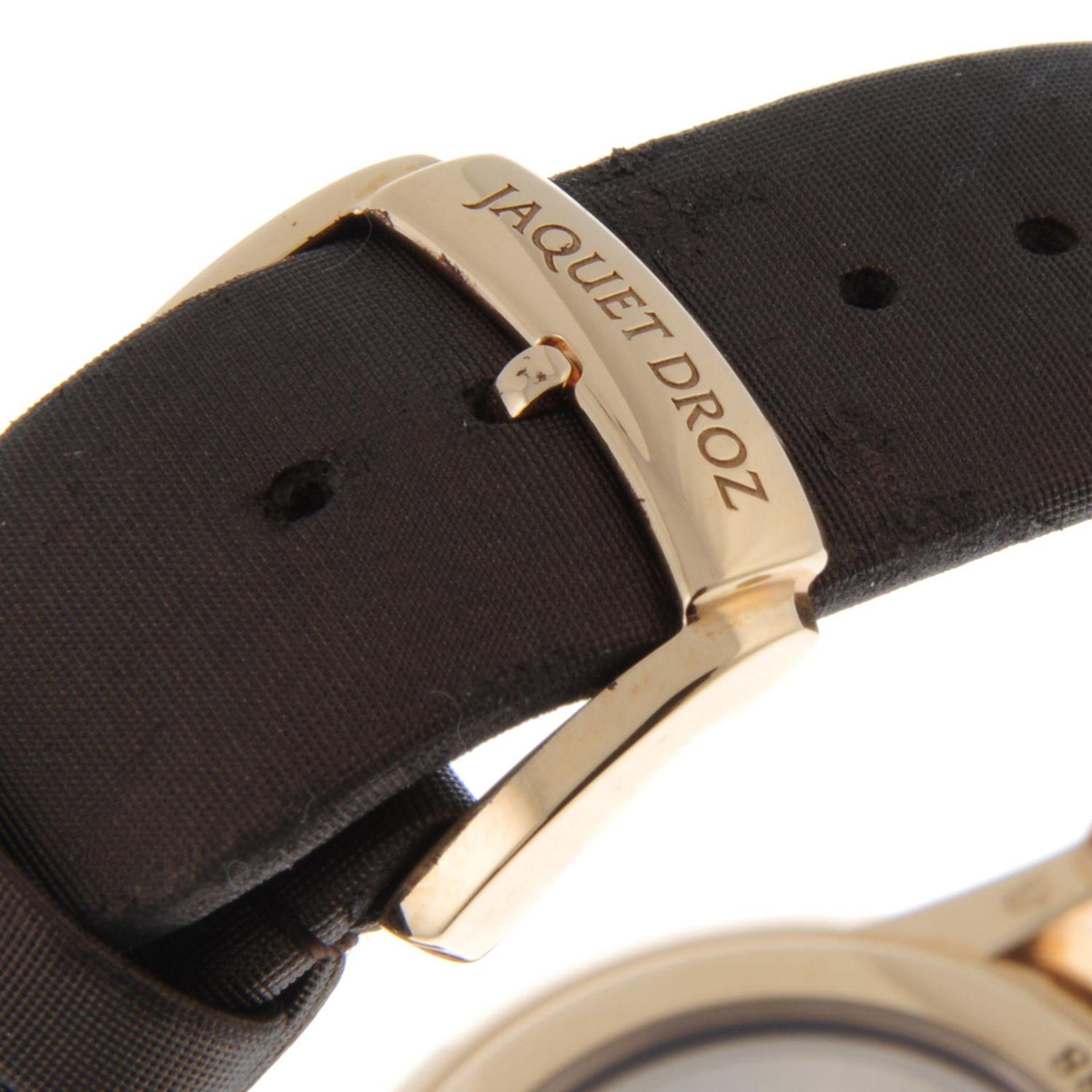 JAQUET DROZ - a limited edition Petite Heure Minute Art Deco wrist watch. - Bild 5 aus 6