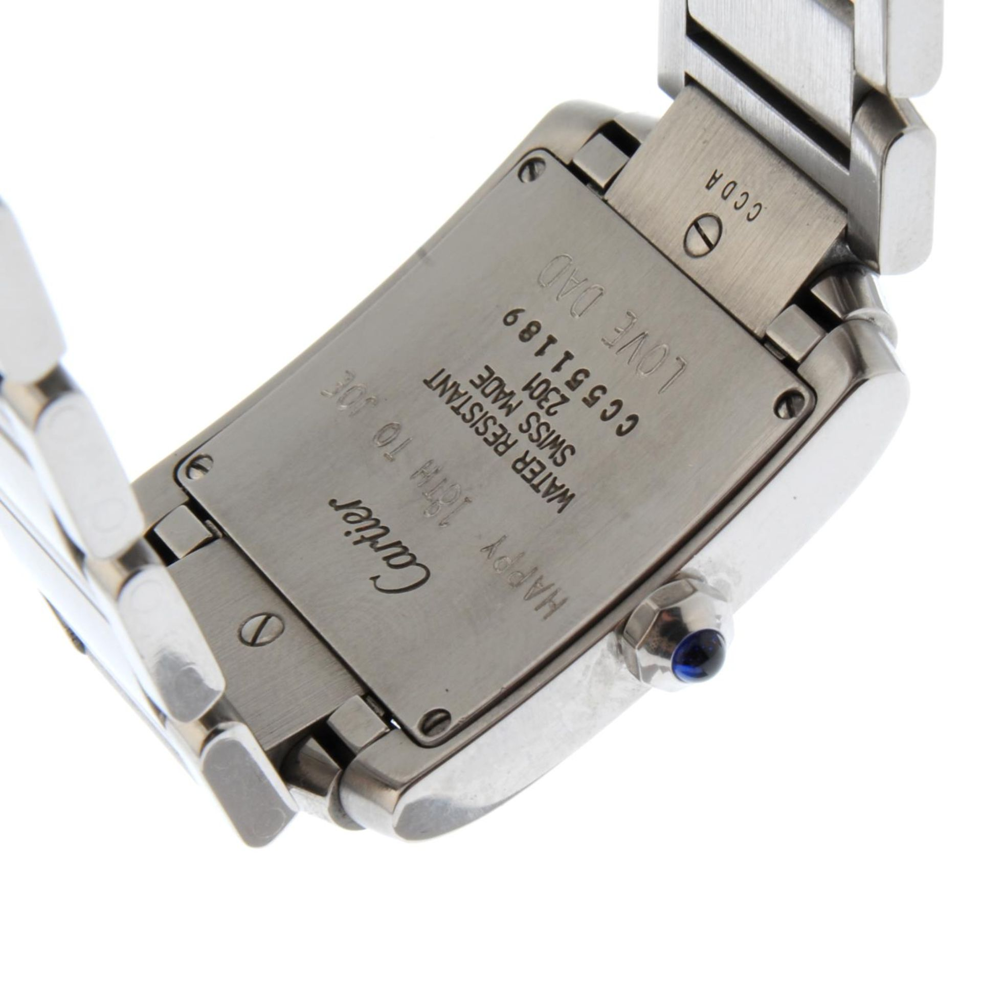CARTIER - a Tank Francaise bracelet watch. - Bild 2 aus 5
