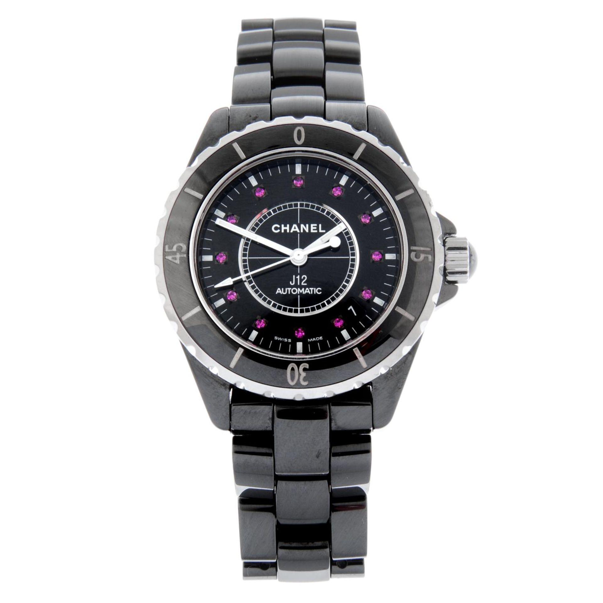 CHANEL - a J12 bracelet watch.