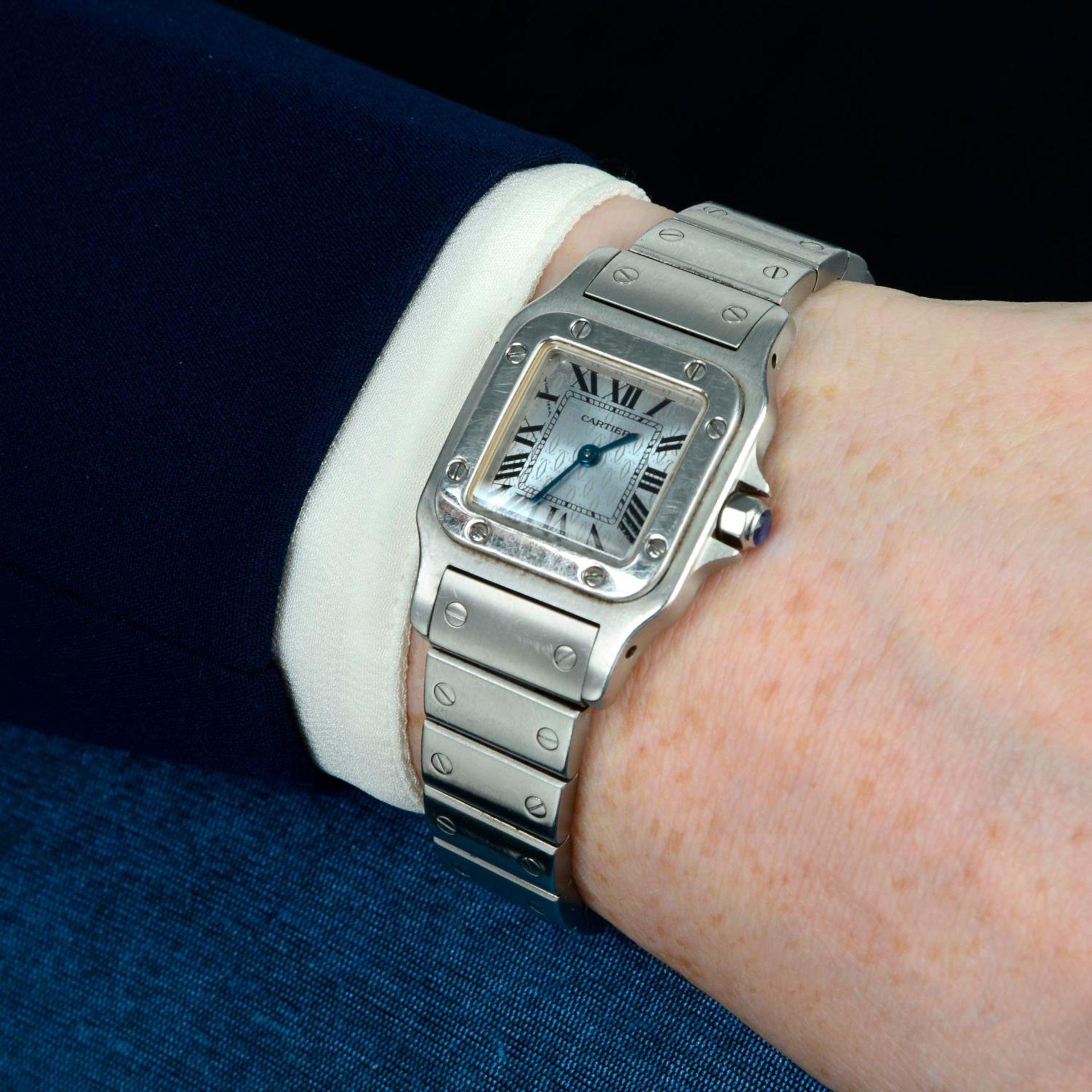 CARTIER - a Santos bracelet watch. - Bild 3 aus 5