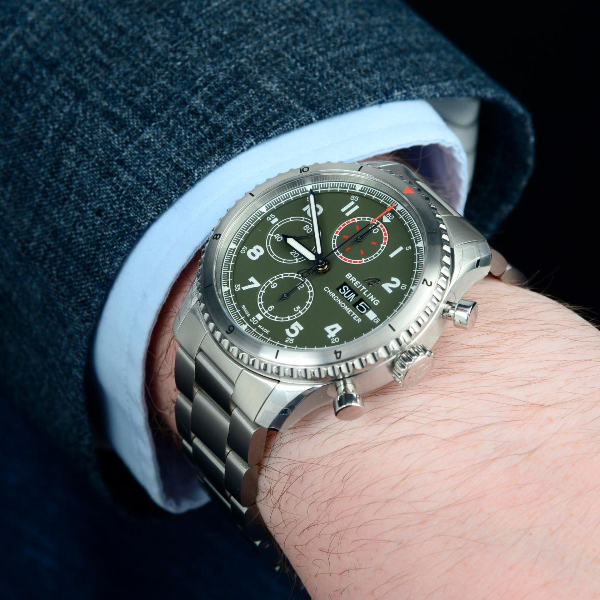 CURRENT MODEL: BREITLING - an Aviator 8 chronograph bracelet watch. - Bild 3 aus 6