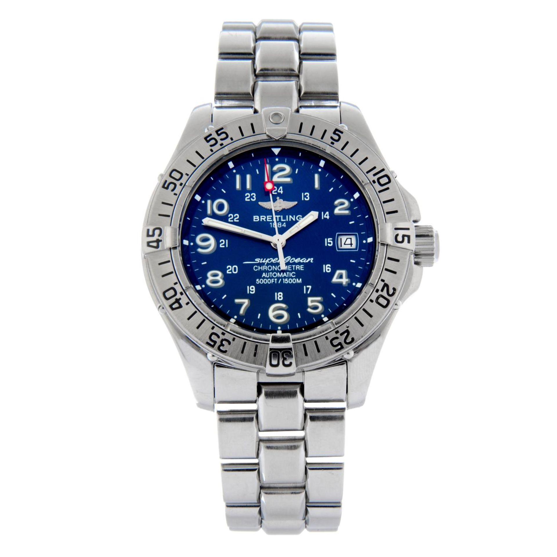 BREITLING - a SuperOcean bracelet watch.