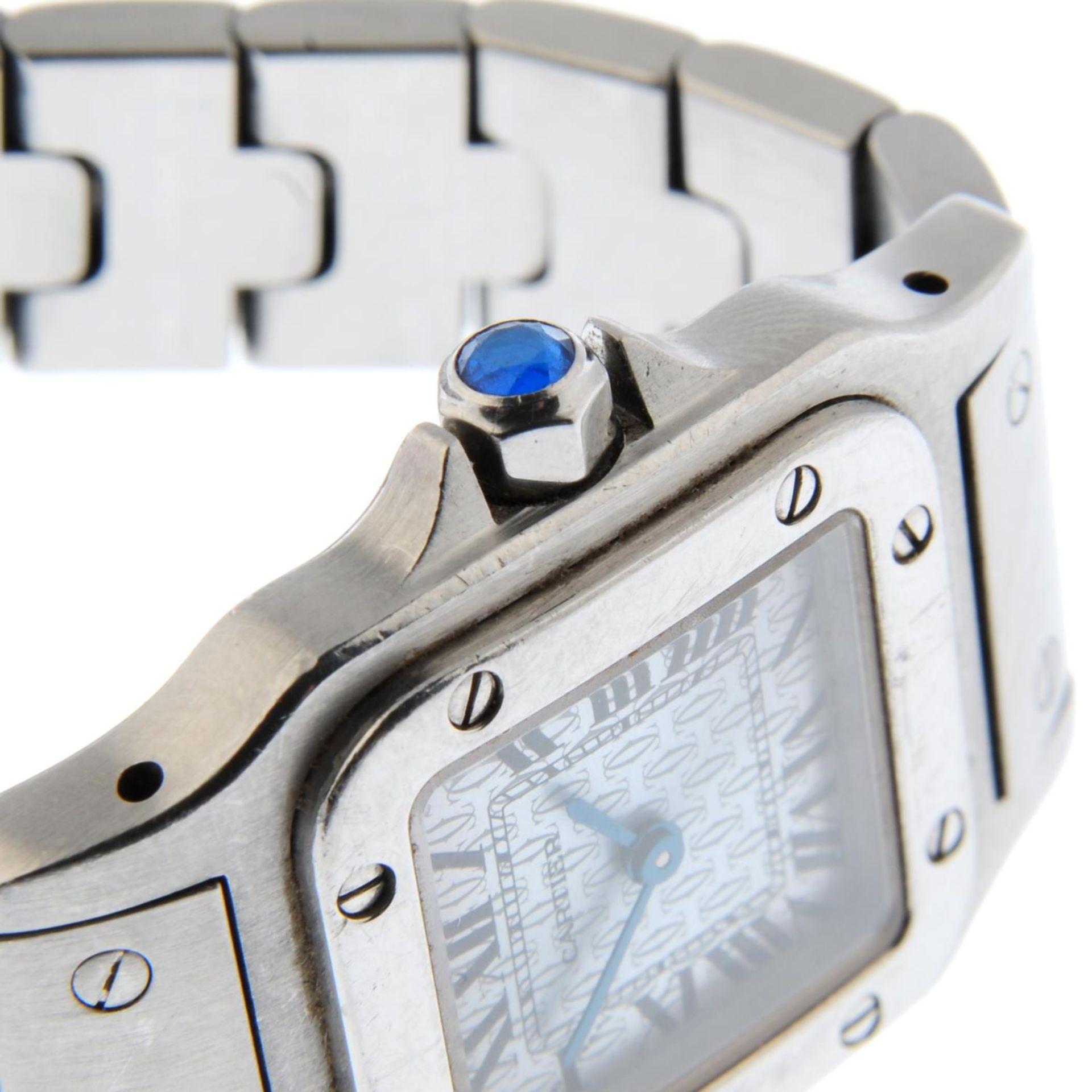 CARTIER - a Santos bracelet watch. - Bild 5 aus 5