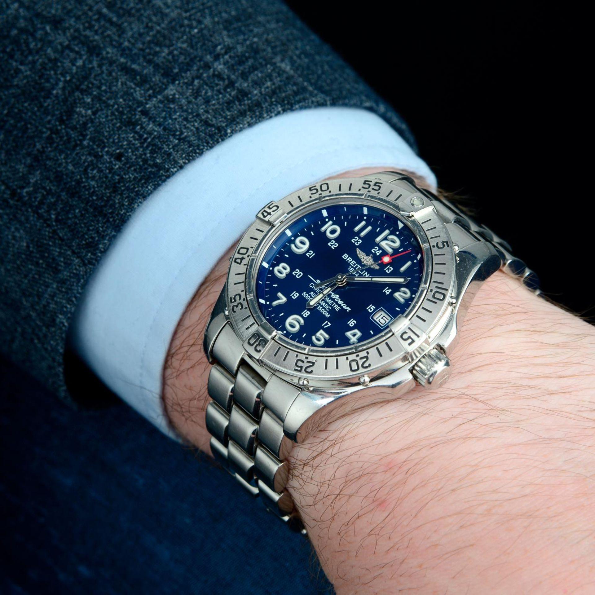 BREITLING - a SuperOcean bracelet watch. - Bild 3 aus 5