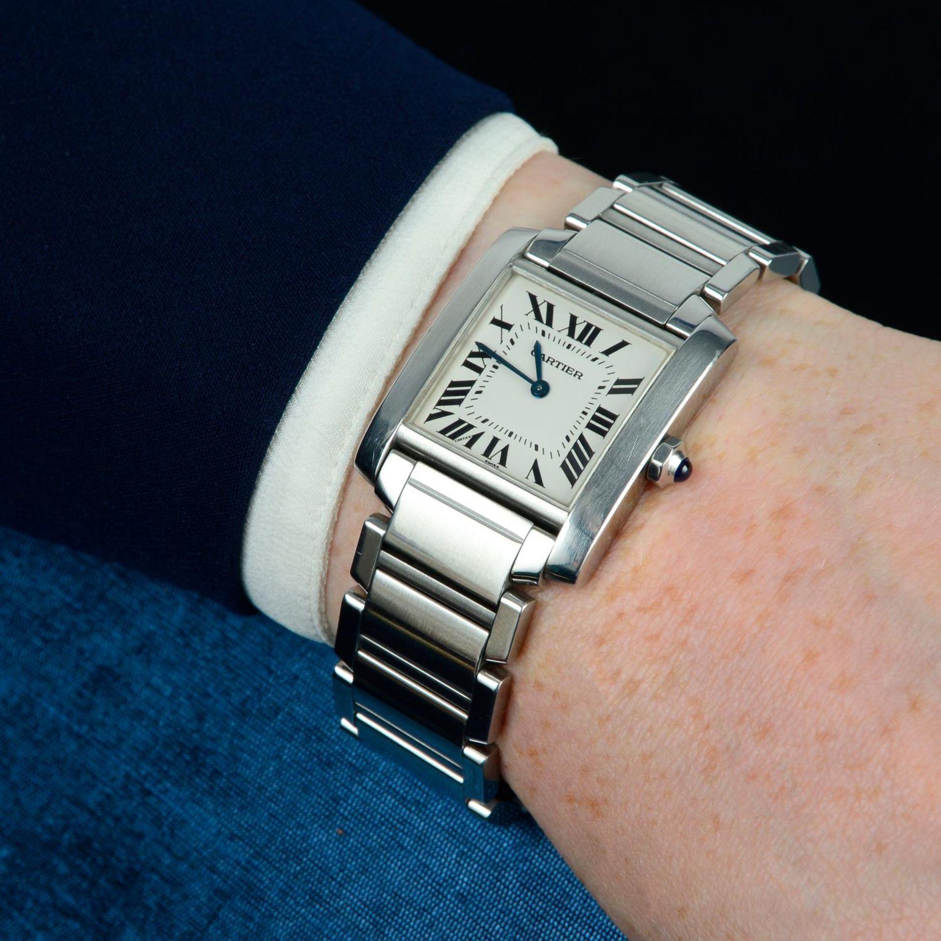 CARTIER - a Tank Francaise bracelet watch. - Bild 3 aus 5