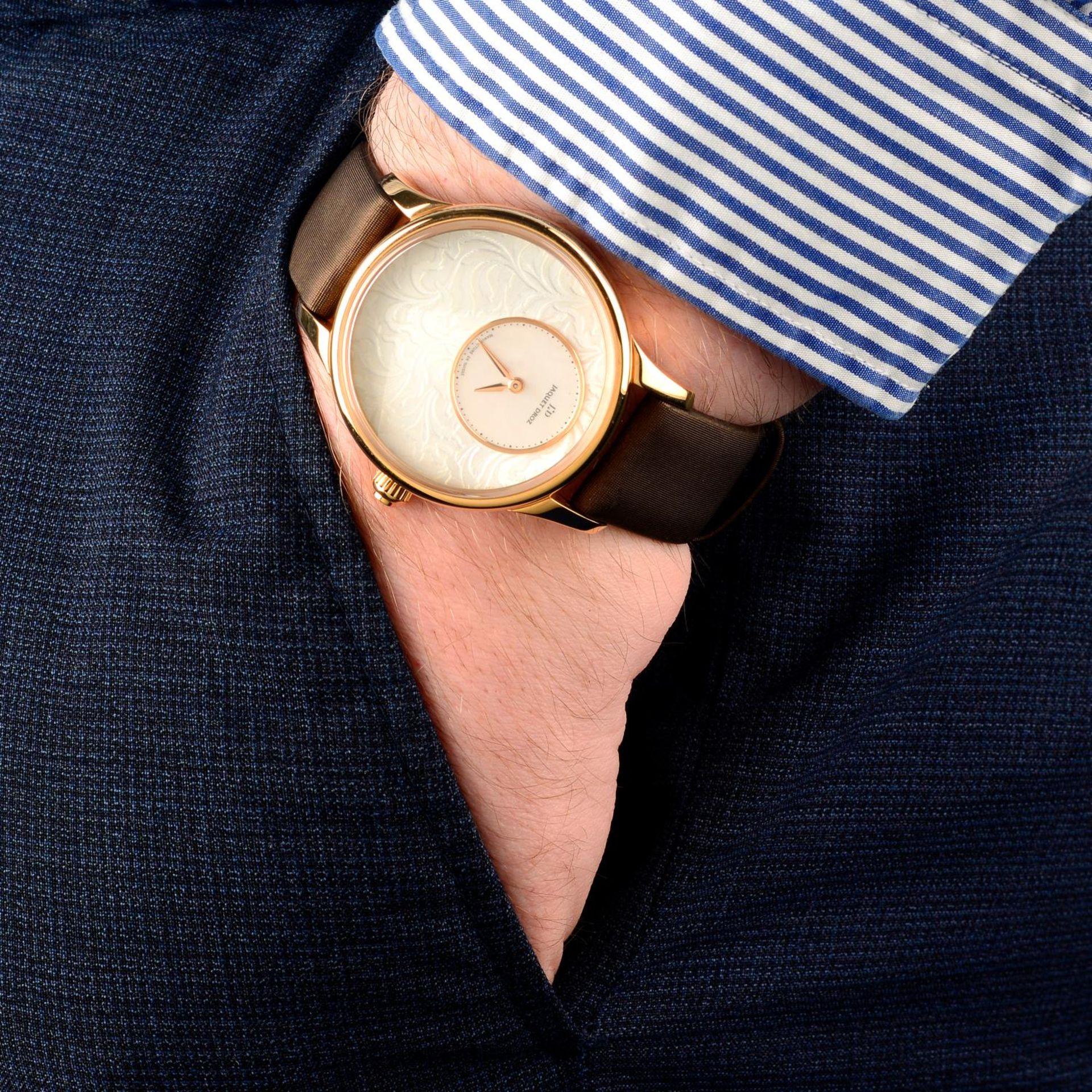 JAQUET DROZ - a limited edition Petite Heure Minute Art Deco wrist watch. - Bild 3 aus 6