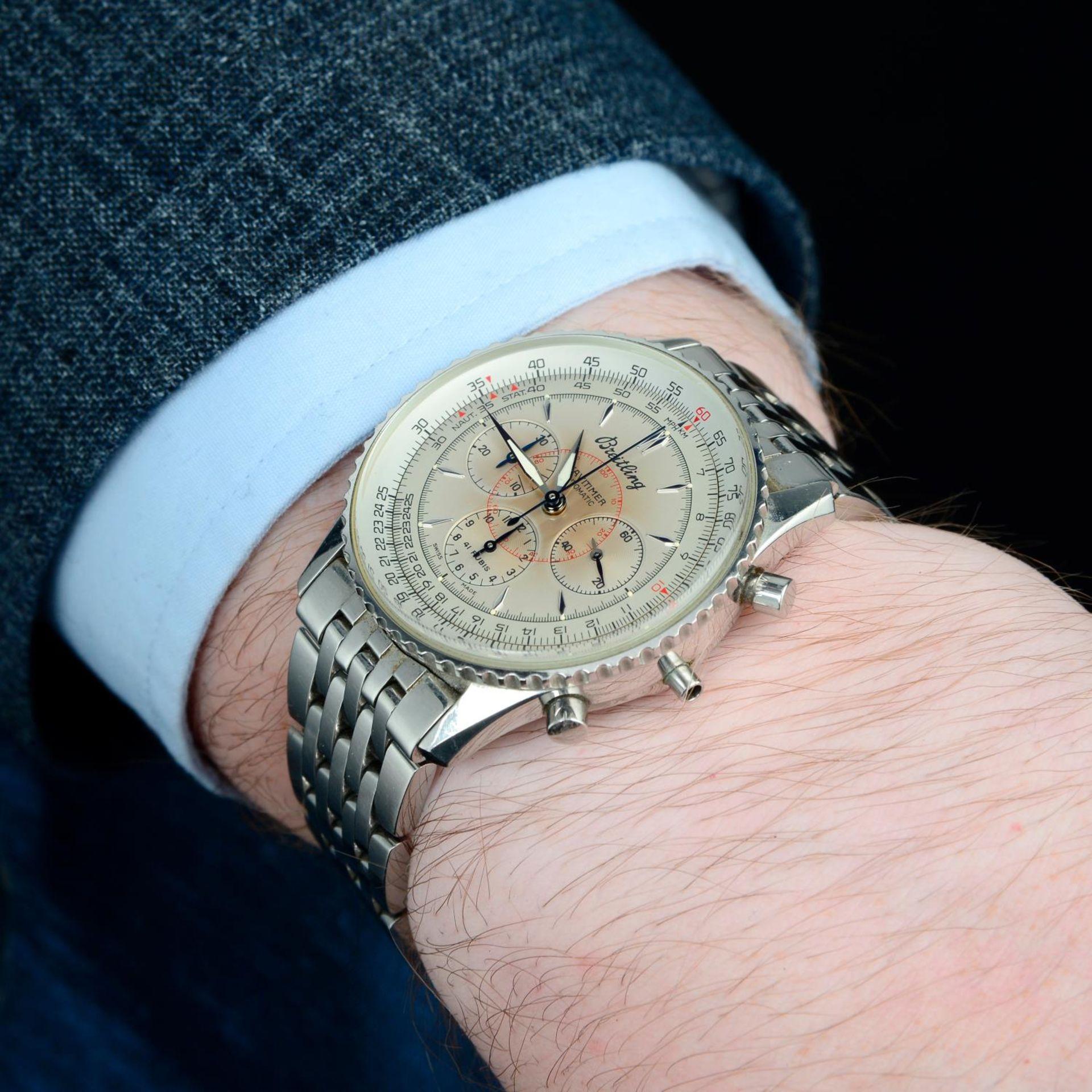 BREITLING - a Navitimer Montbrilliant bracelet watch. - Bild 3 aus 5