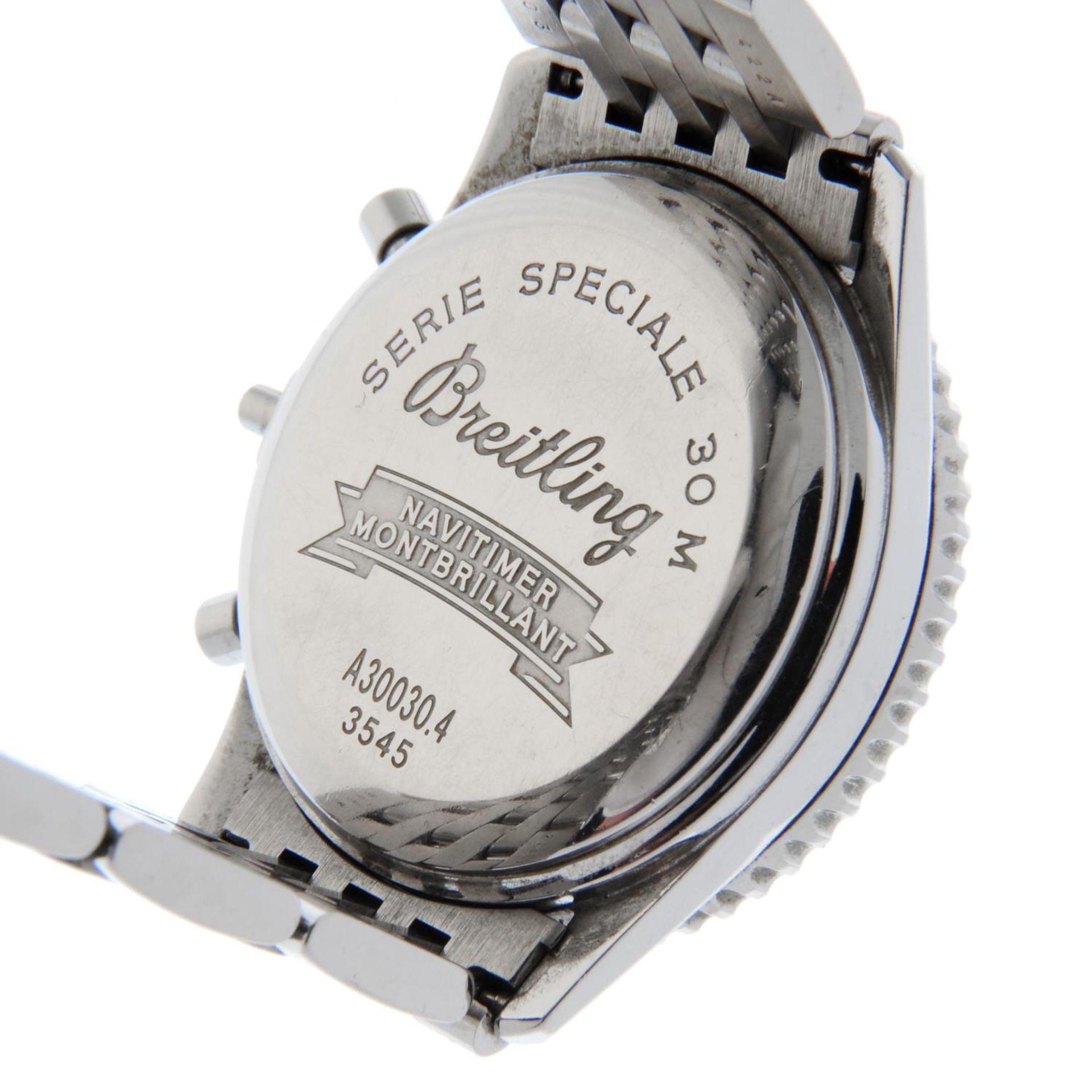 BREITLING - a Navitimer Montbrilliant bracelet watch. - Bild 5 aus 5