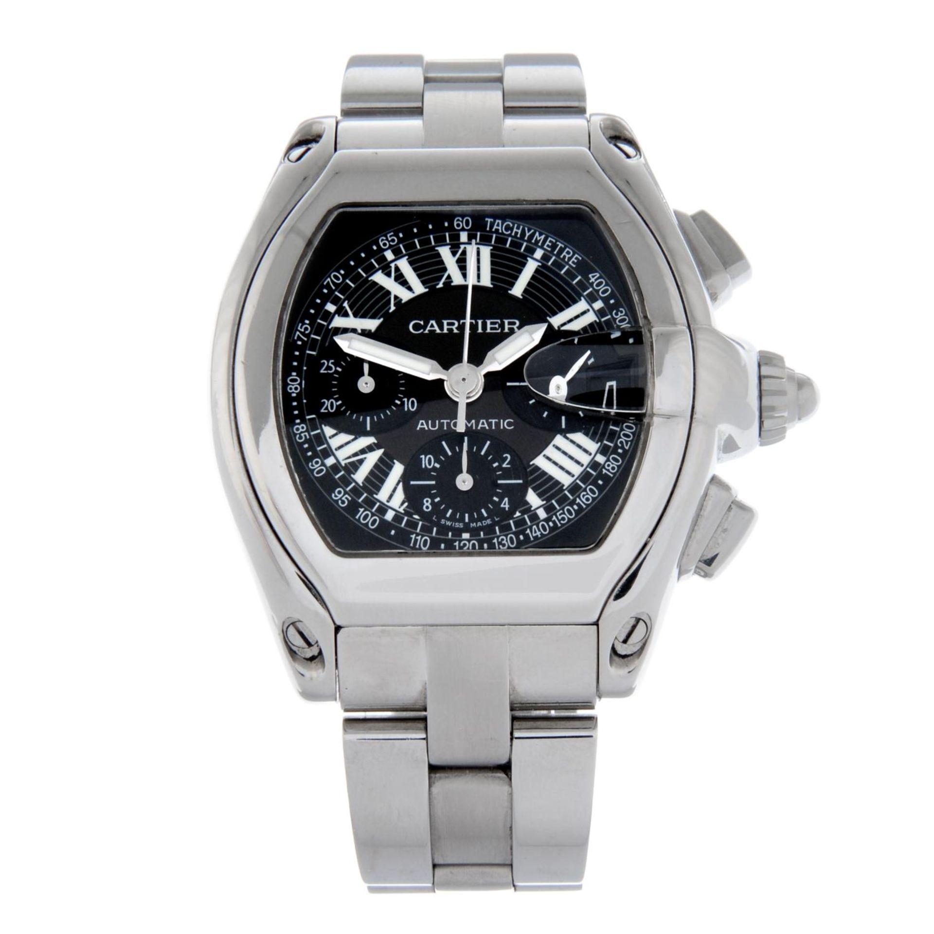 CARTIER - a Roadster XL chronograph bracelet watch.