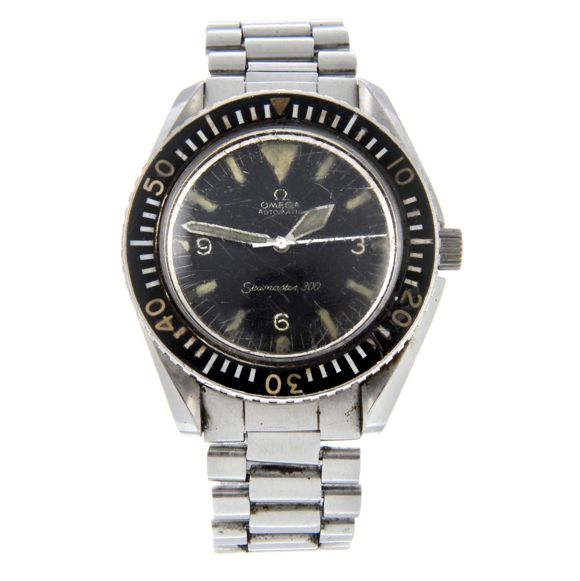 OMEGA - a Seamaster 300 'Big Triangle' bracelet watch.