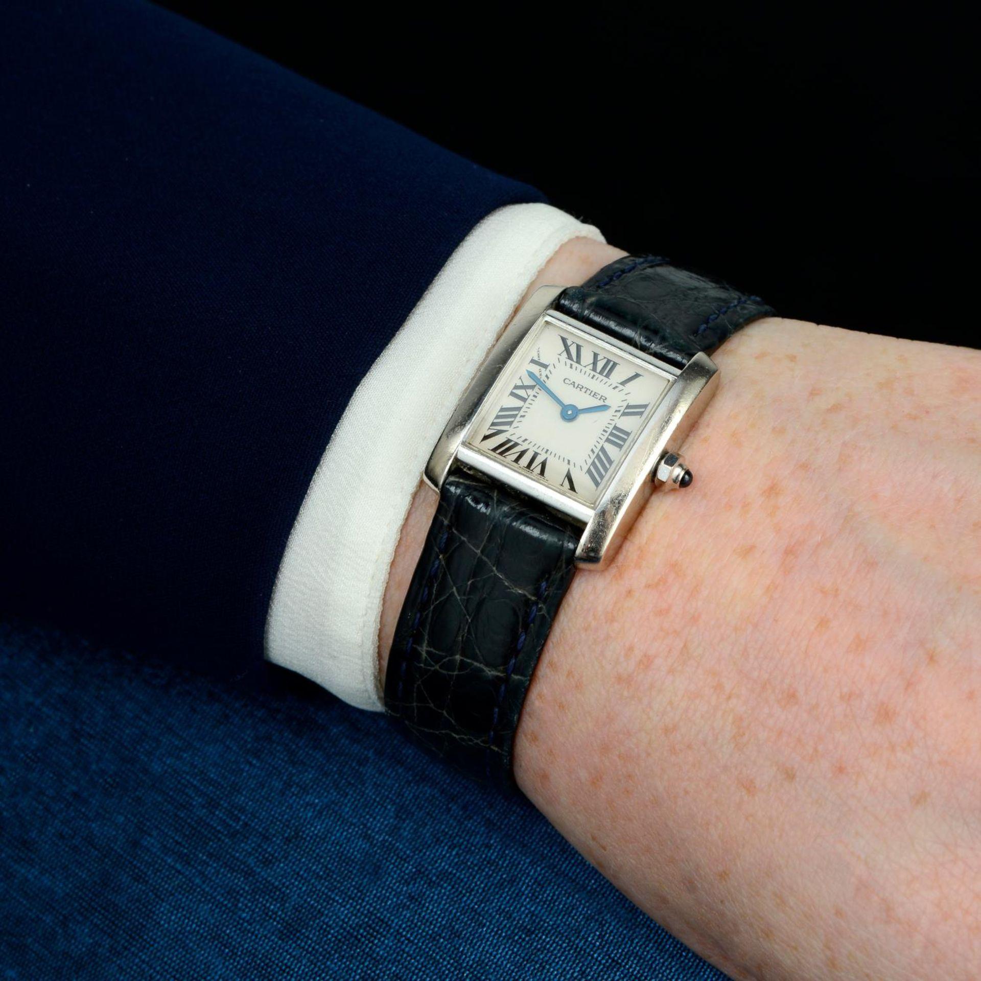 CARTIER - a Tank Francaise wrist watch. - Bild 3 aus 6