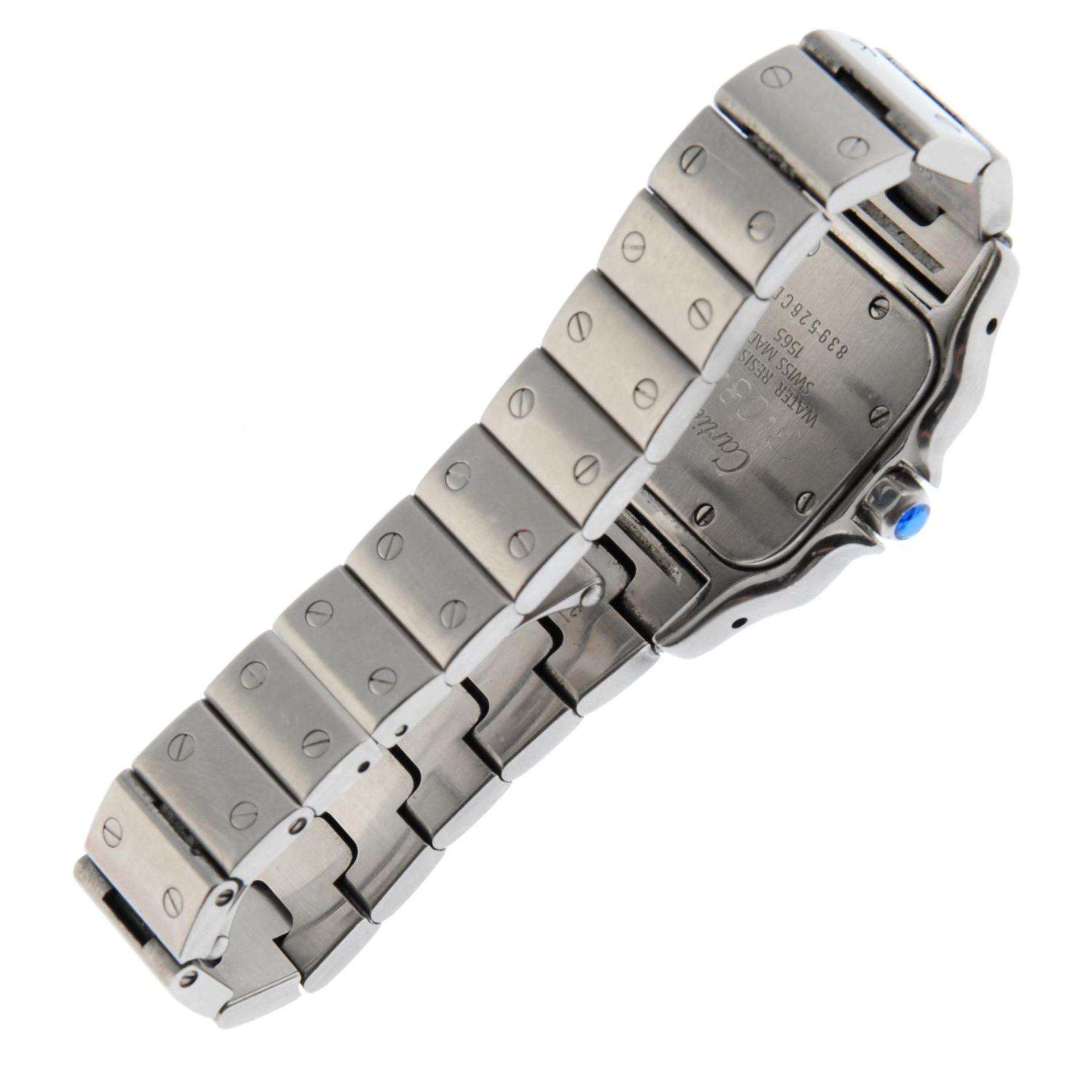 CARTIER - a Santos bracelet watch. - Bild 4 aus 5
