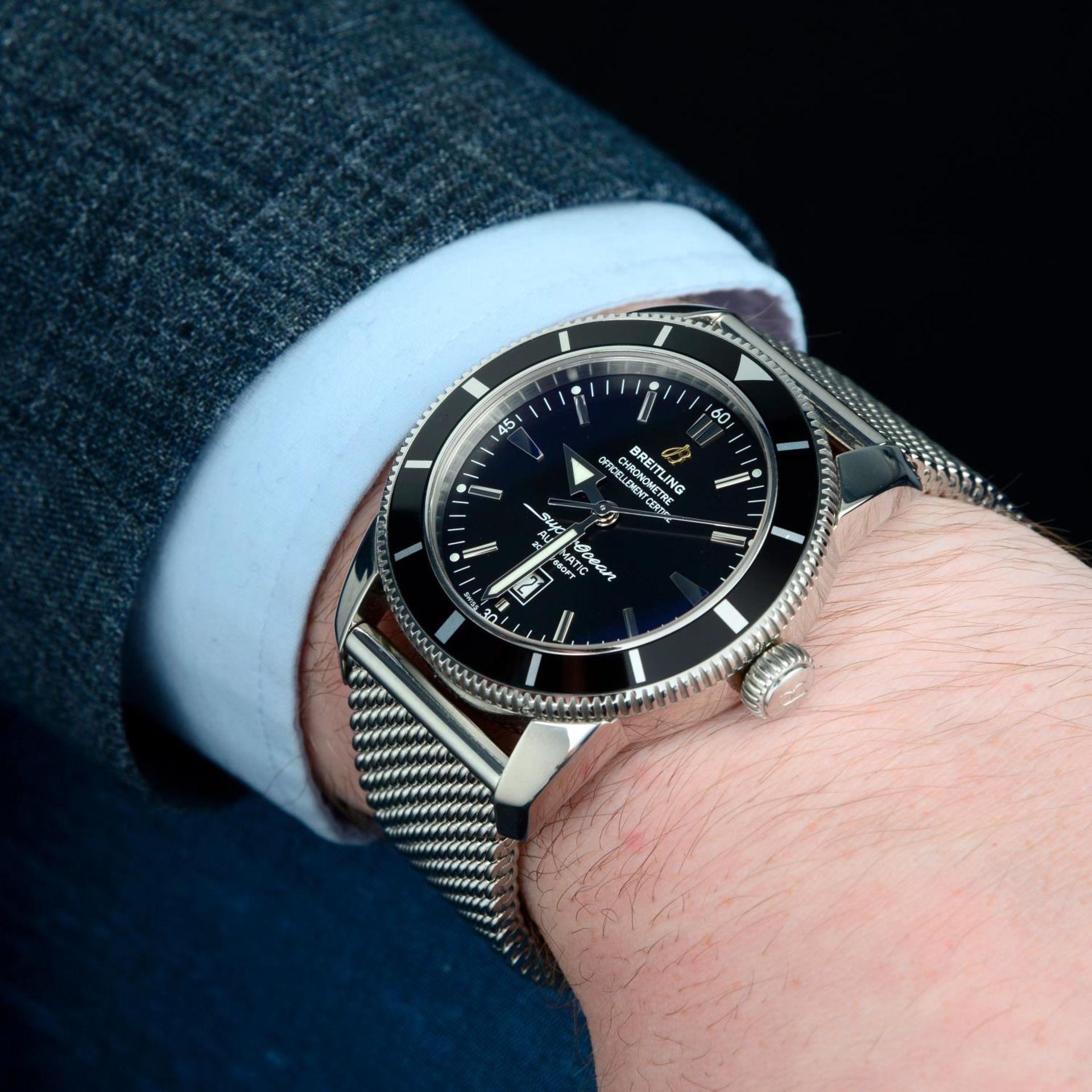 BREITLING - a SuperOcean Heritage 46 bracelet watch. - Bild 3 aus 6