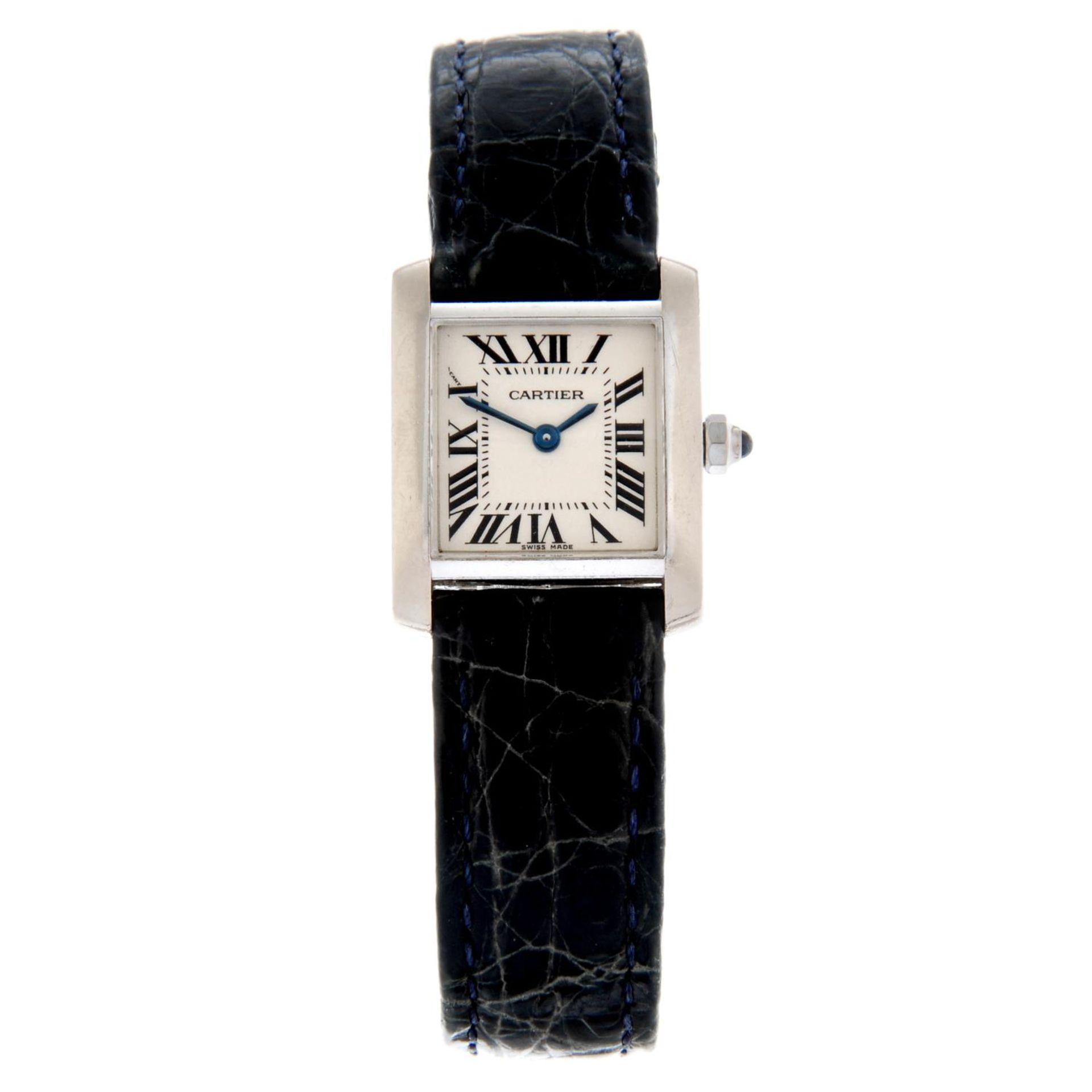 CARTIER - a Tank Francaise wrist watch.