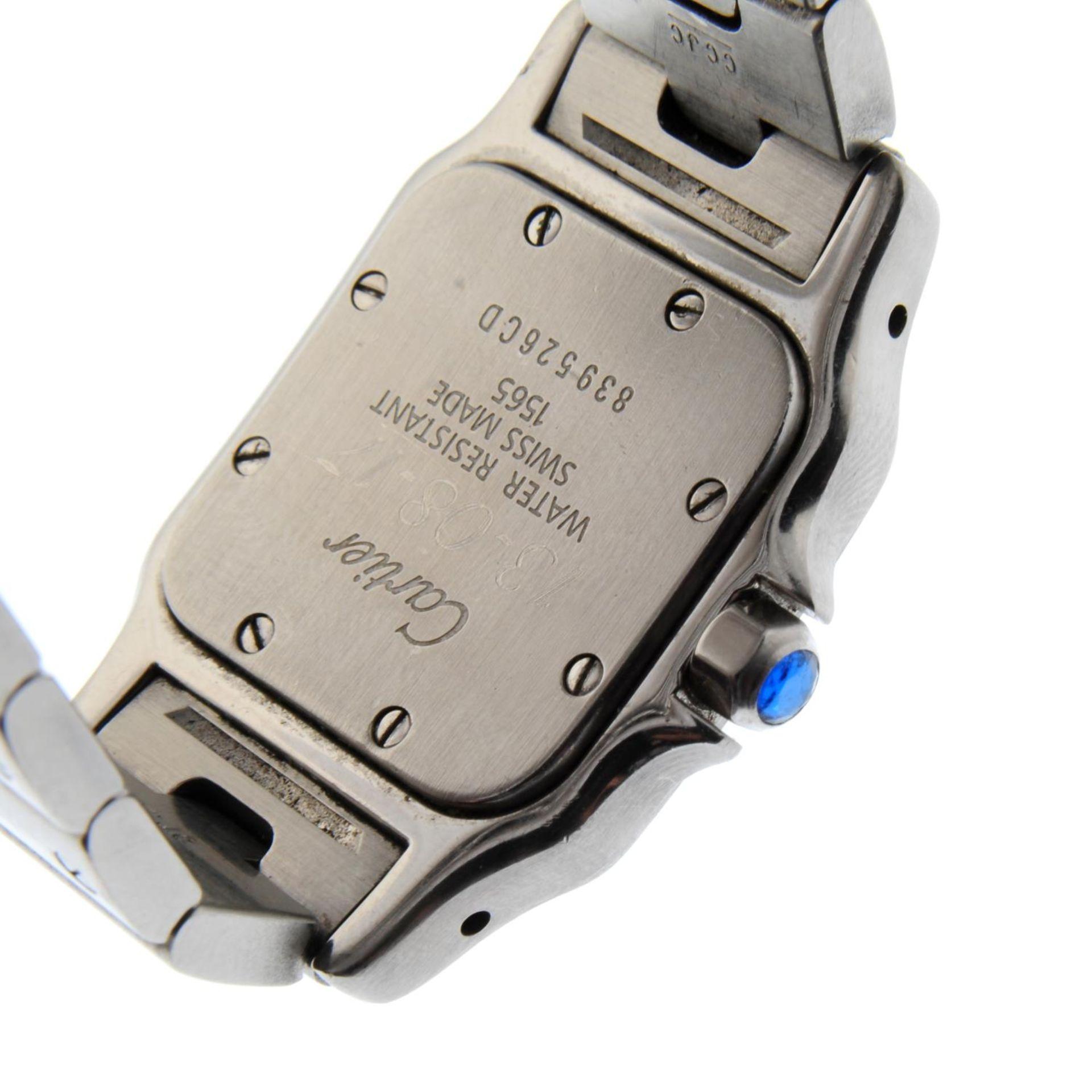 CARTIER - a Santos bracelet watch. - Bild 2 aus 5