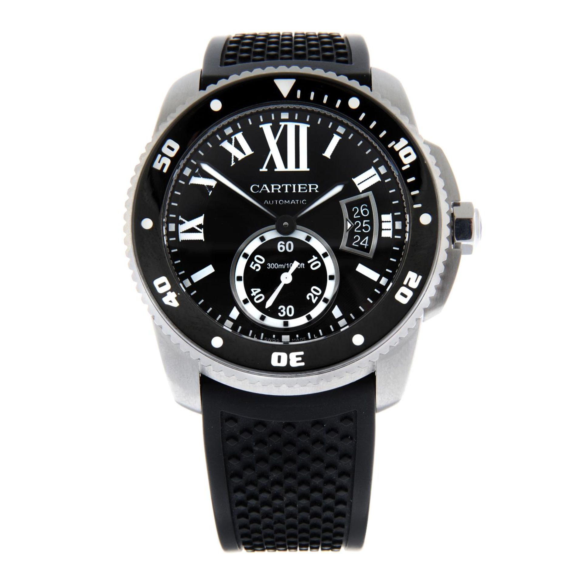 CARTIER - a Calibre de Cartier wrist watch.