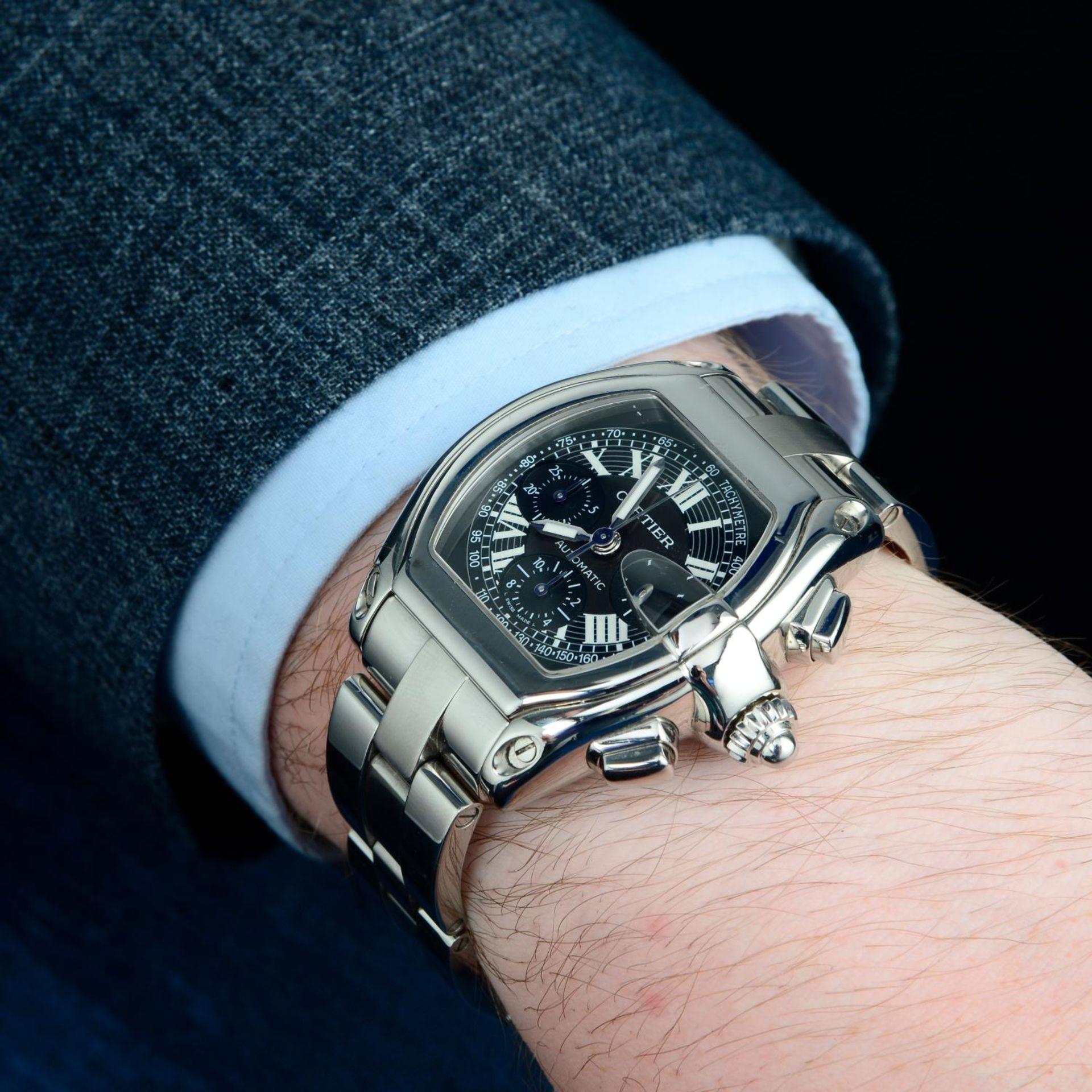 CARTIER - a Roadster XL chronograph bracelet watch. - Bild 3 aus 6