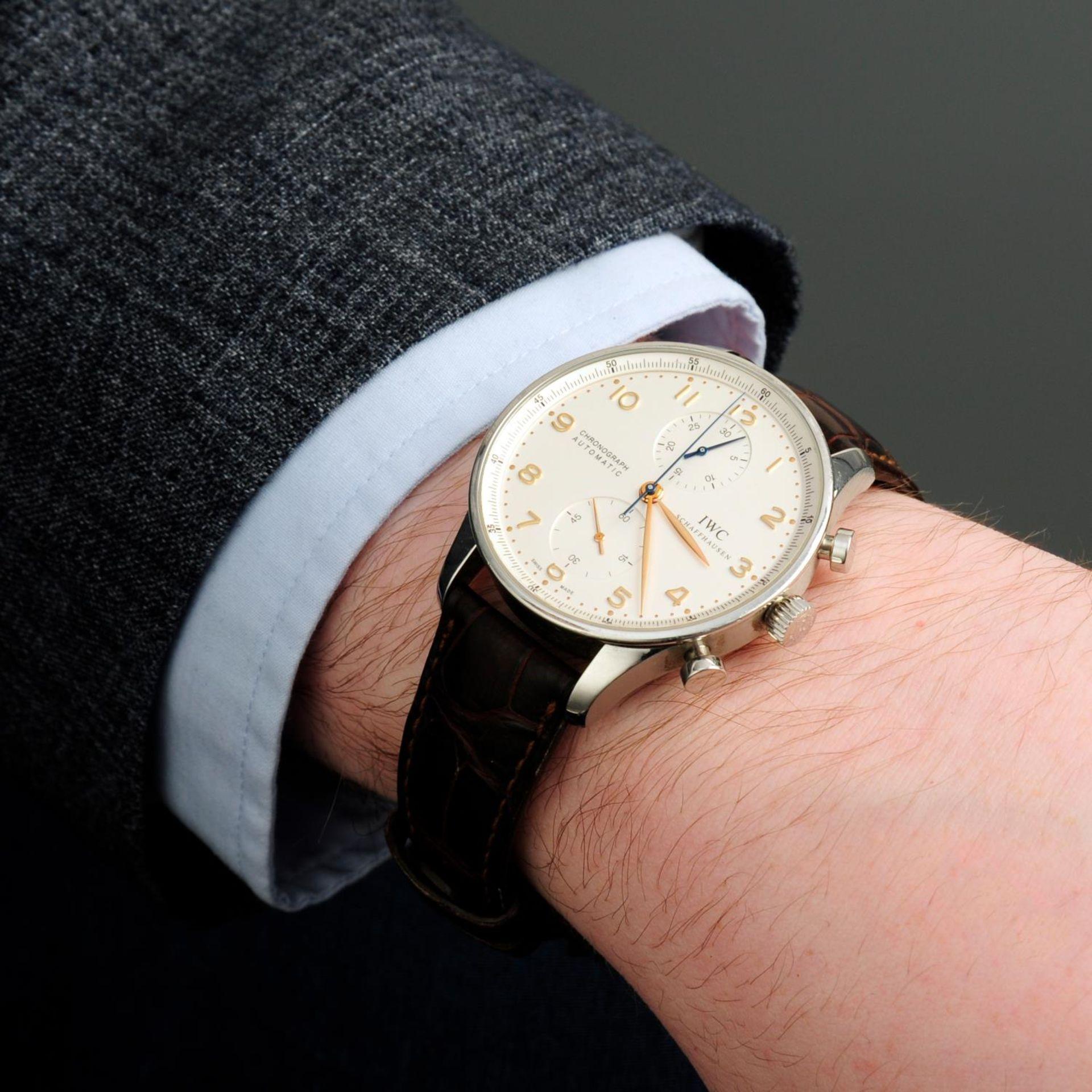 IWC - a Portuguese chronograph wrist watch. - Bild 3 aus 6