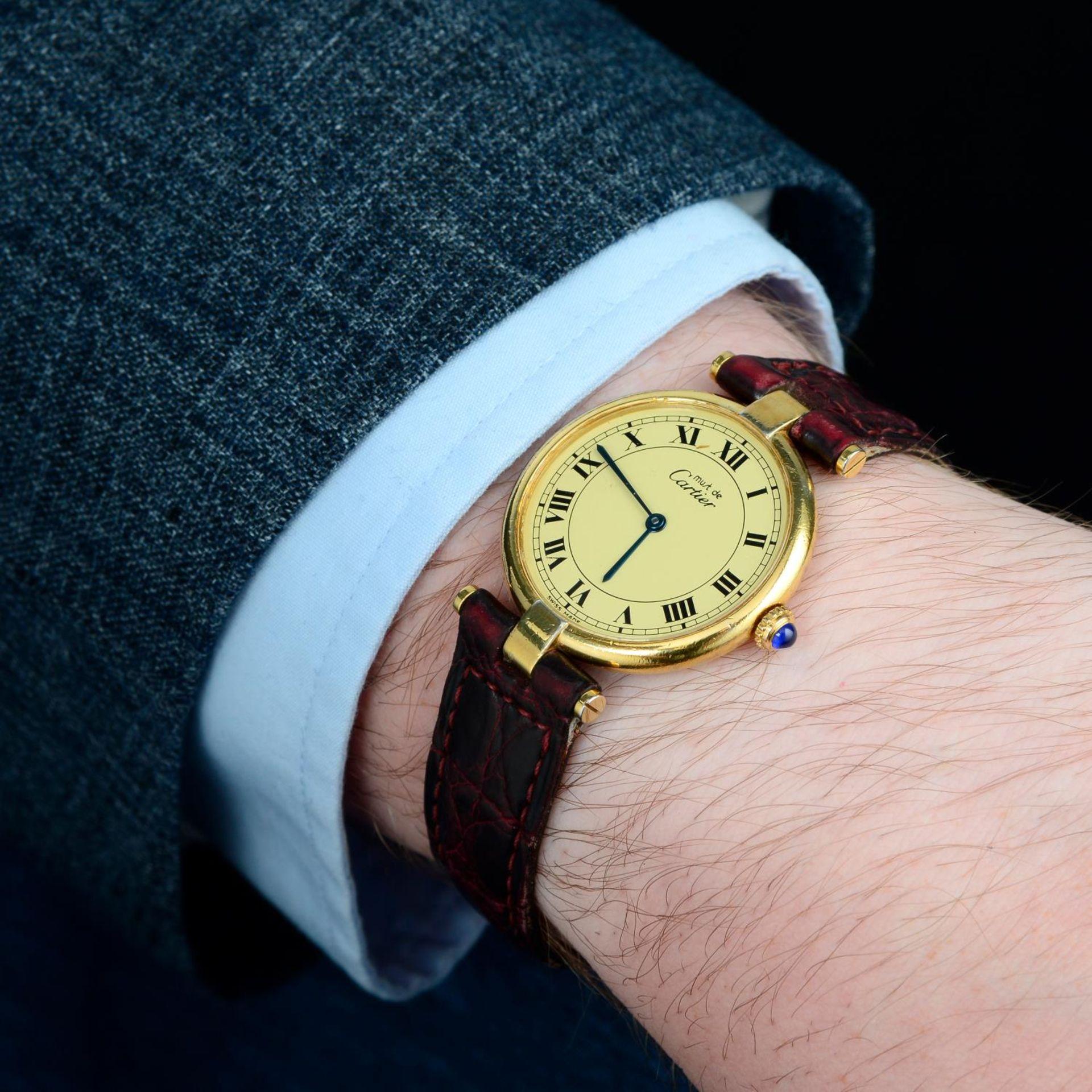 CARTIER - a Must de Cartier wrist watch. - Bild 3 aus 5
