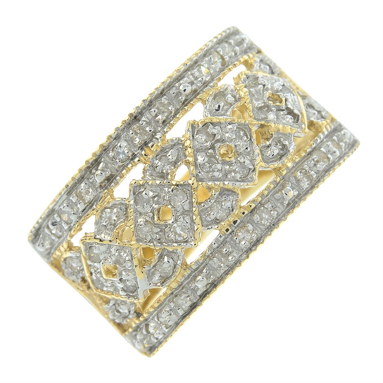 A 9ct gold single-cut diamond dress ring.
