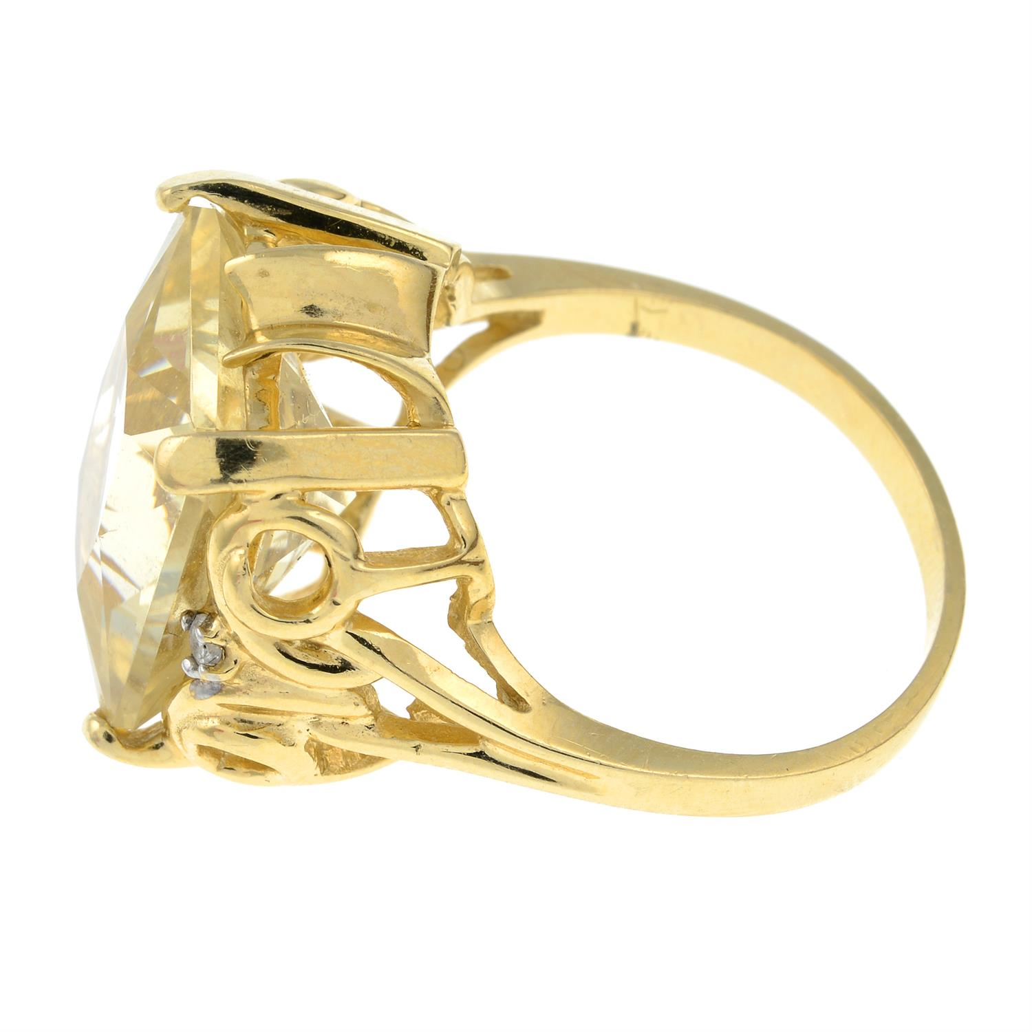 A citrine and diamond dress ring. - Image 2 of 3