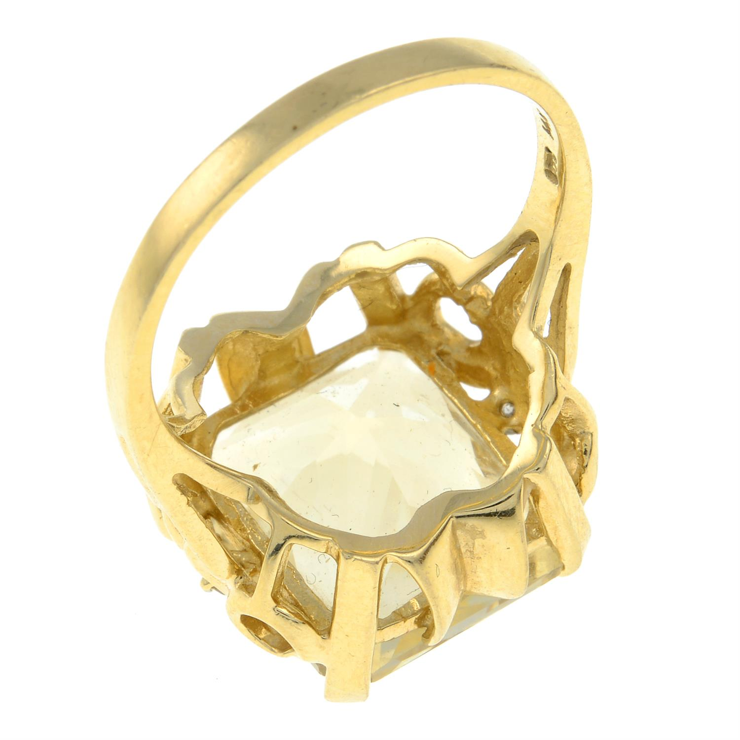 A citrine and diamond dress ring. - Image 3 of 3