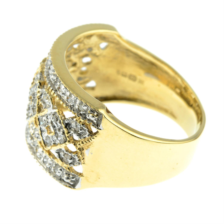 A 9ct gold single-cut diamond dress ring. - Image 2 of 3