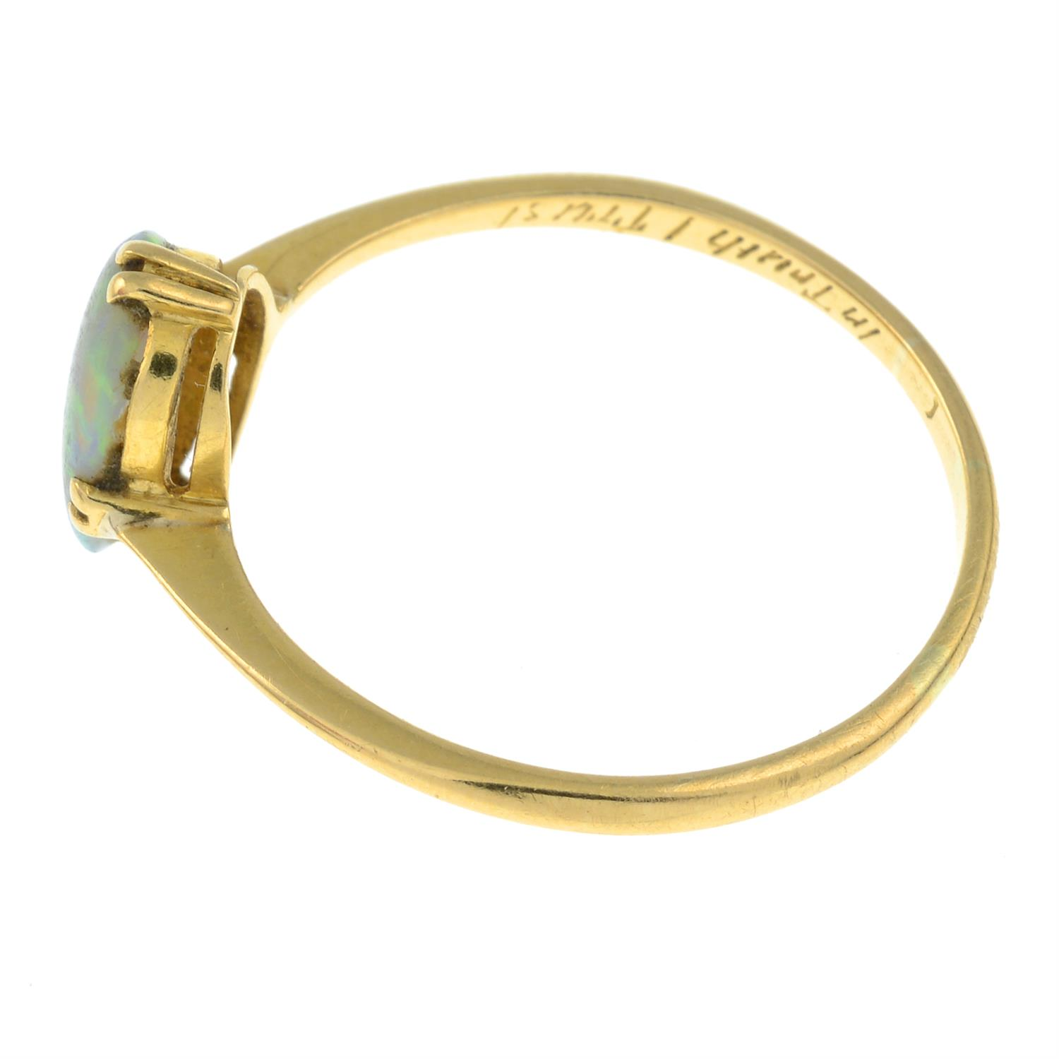 An early 20th century 18ct gold opal single-stone ring. - Image 2 of 3