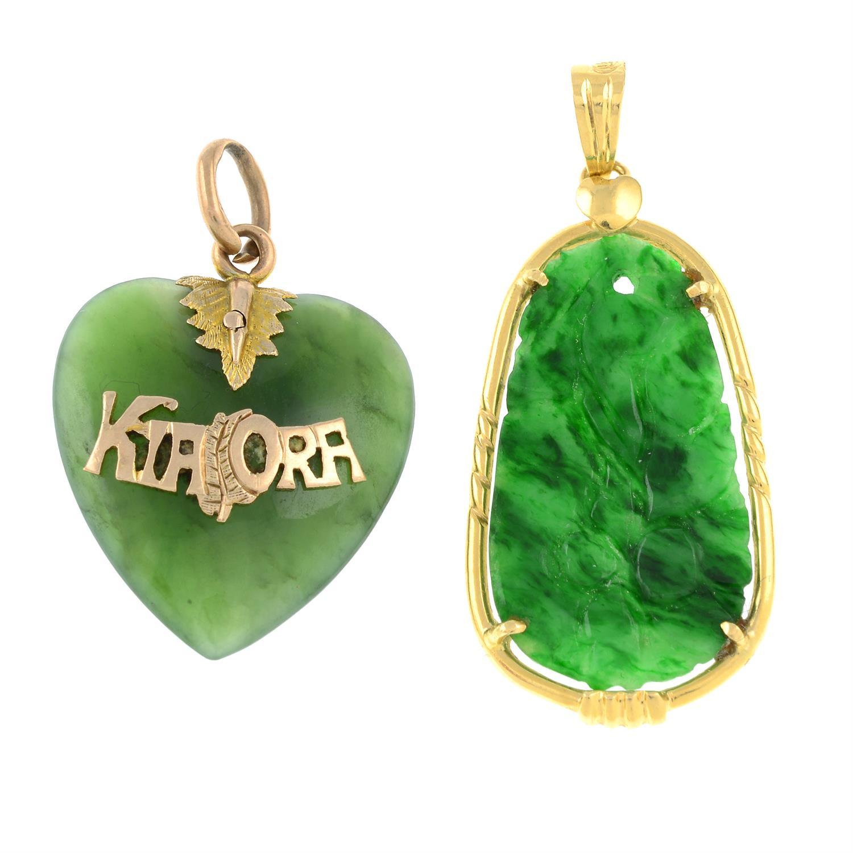 Two jade pendants.