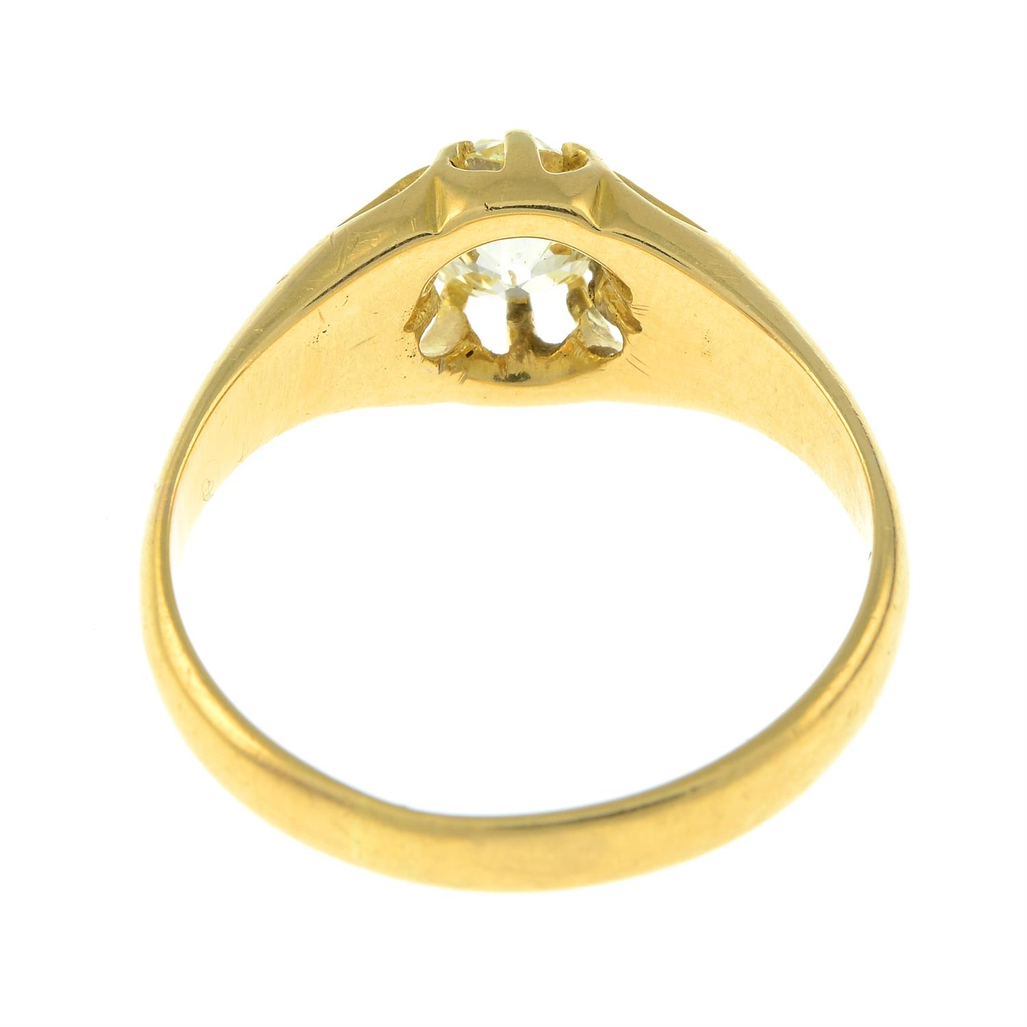 A late Victorian 18ct gold old-cut diamond single-stone ring. - Image 3 of 3