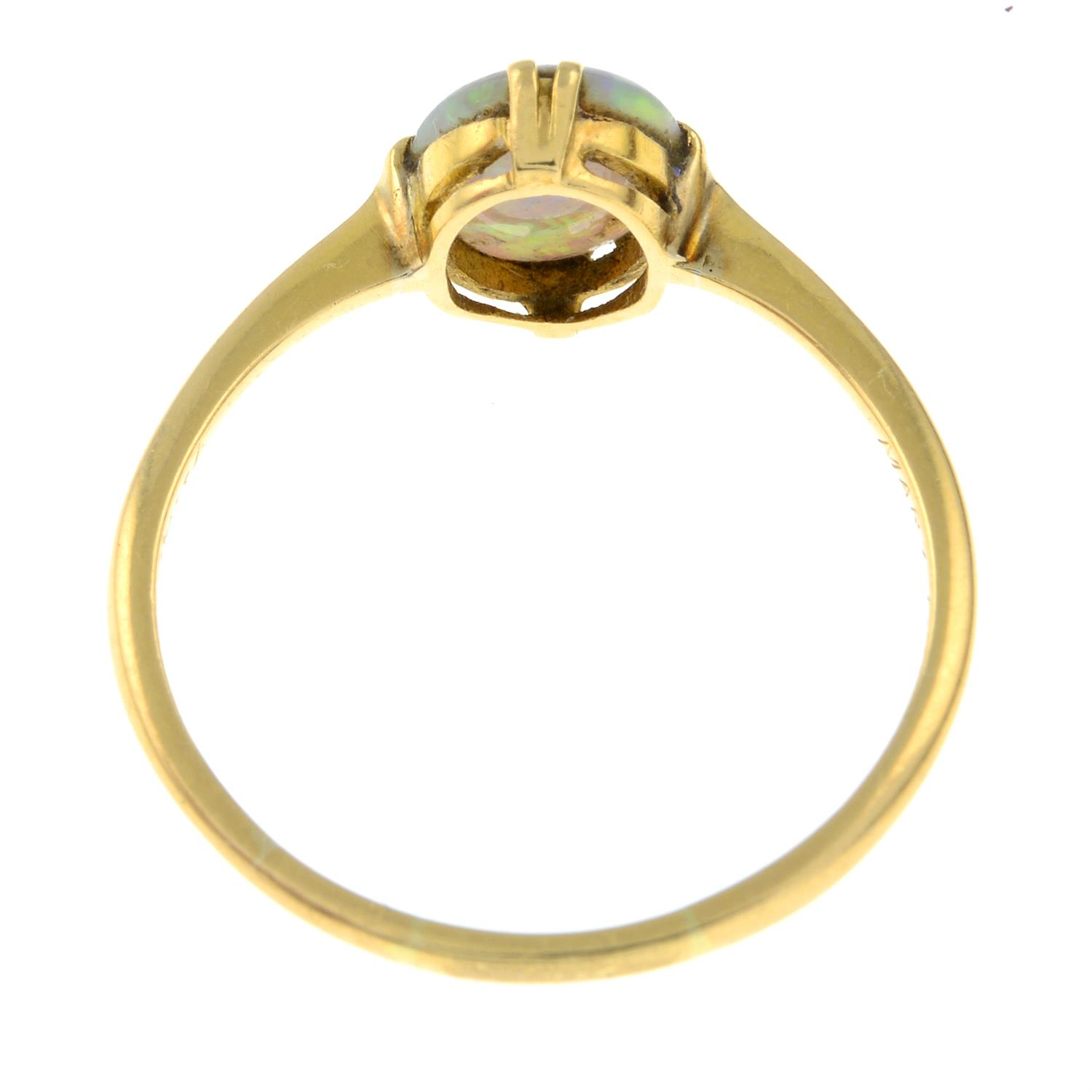An early 20th century 18ct gold opal single-stone ring. - Image 3 of 3