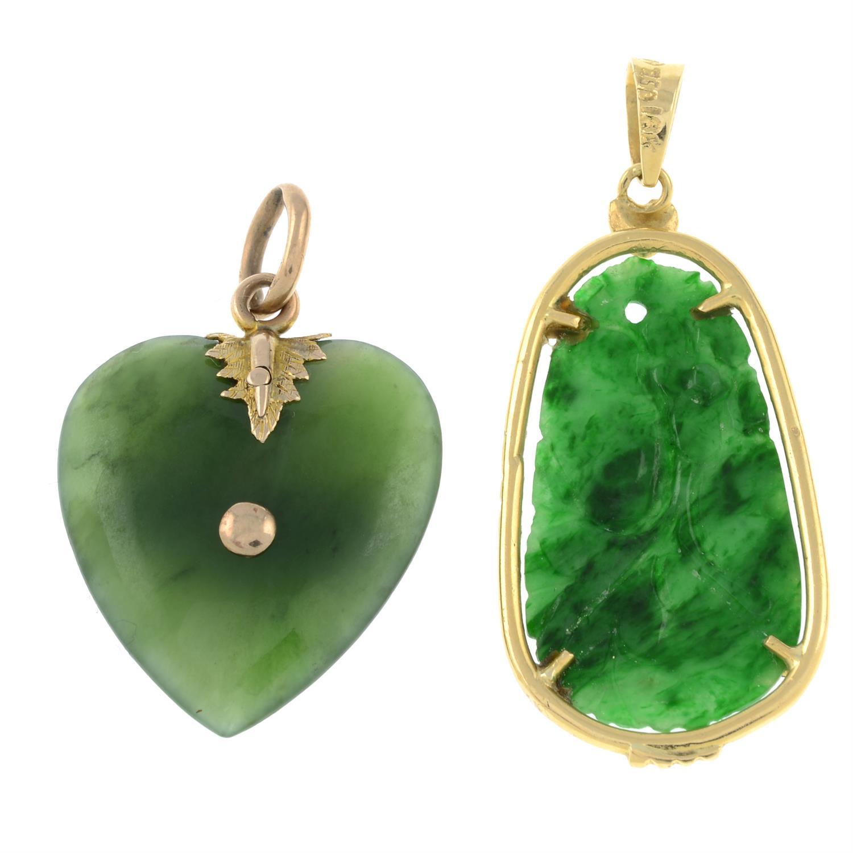 Two jade pendants. - Image 2 of 2