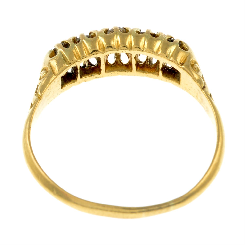 An Edwardian circular-cut diamond five-stone ring. - Image 3 of 3