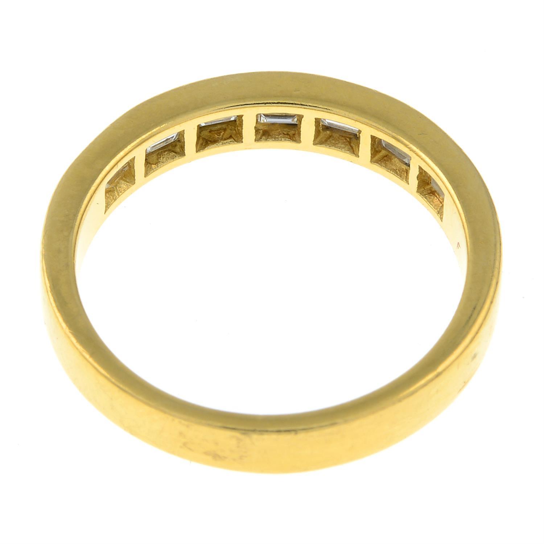 An 18ct gold rectangular-shape diamond half eternity ring. - Image 3 of 3