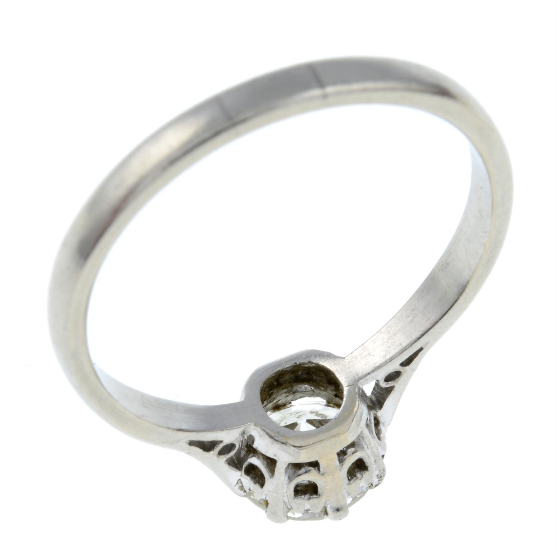 A brilliant-cut diamond single-stone ring. - Image 3 of 3