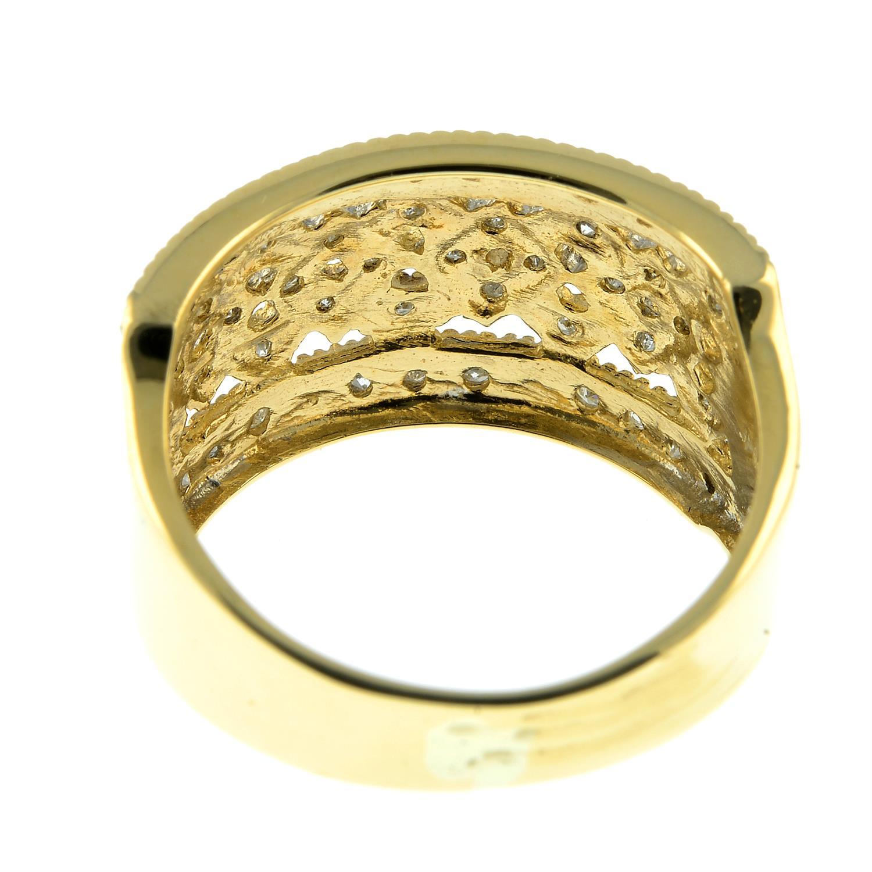 A 9ct gold single-cut diamond dress ring. - Image 3 of 3