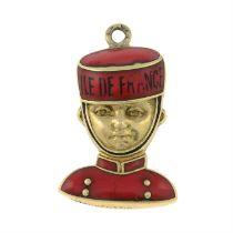 An enamel Île-de-France bell boy charm.