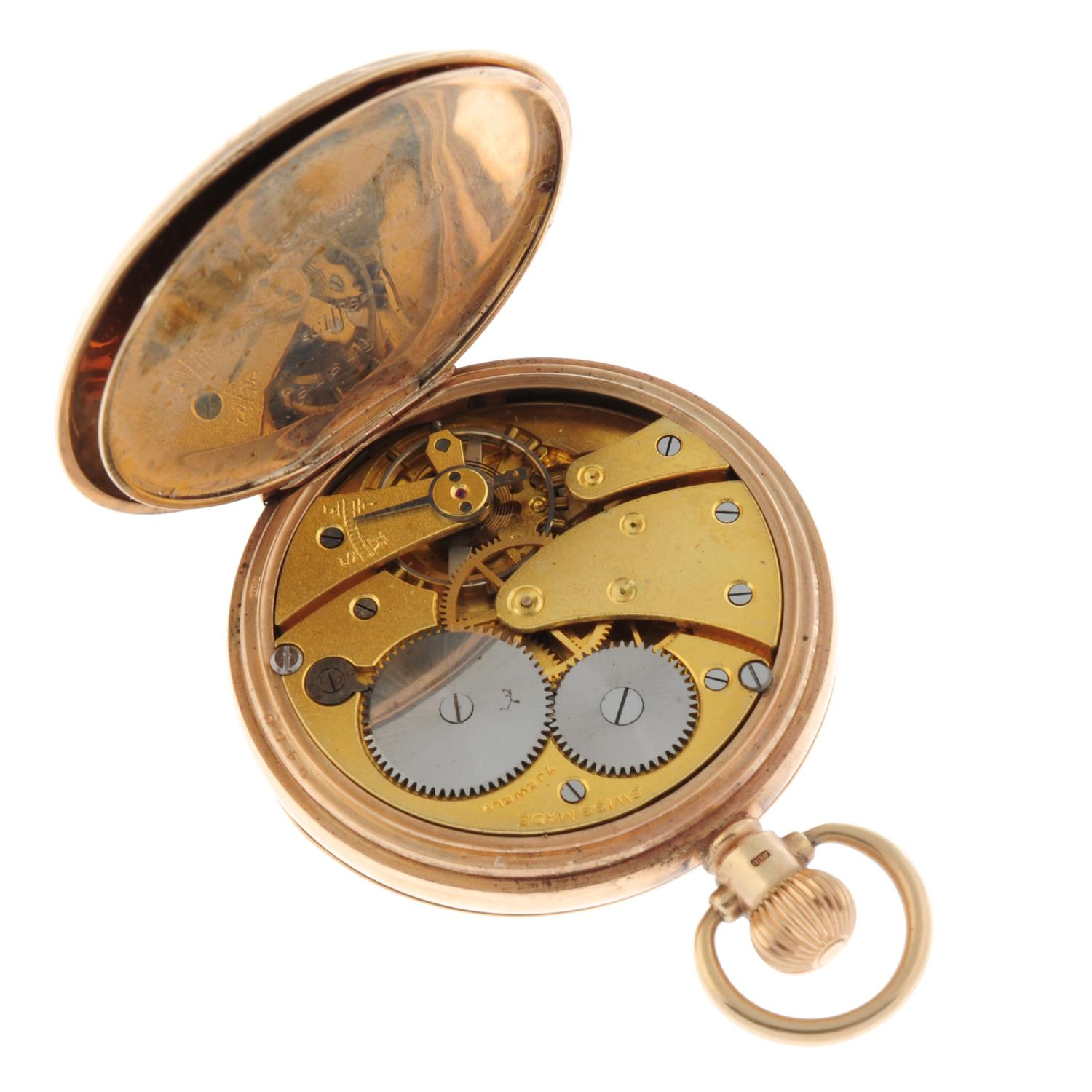 A full hunter pocket watch by Federal. - Image 4 of 4