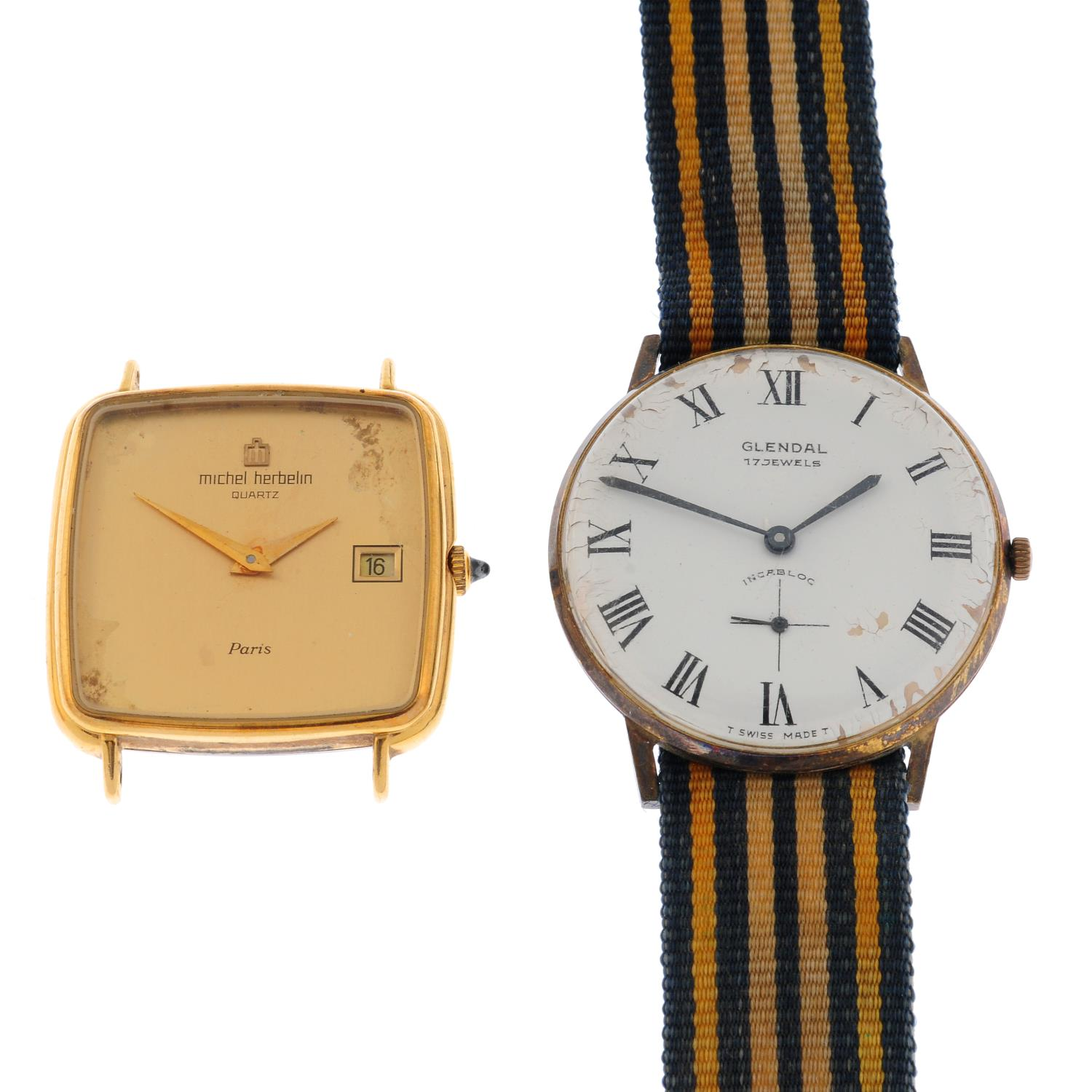 A group of five wrist watches, to include an example by Enicar and Tissot. - Image 3 of 4
