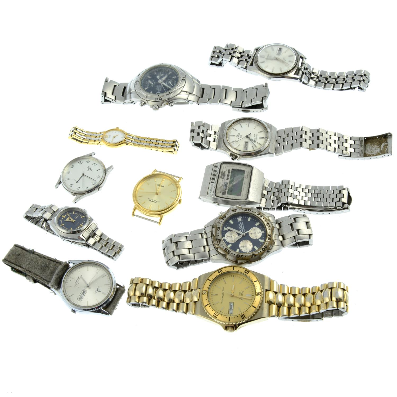 A group of ten assorted watches, to include examples by Seiko. - Image 2 of 2