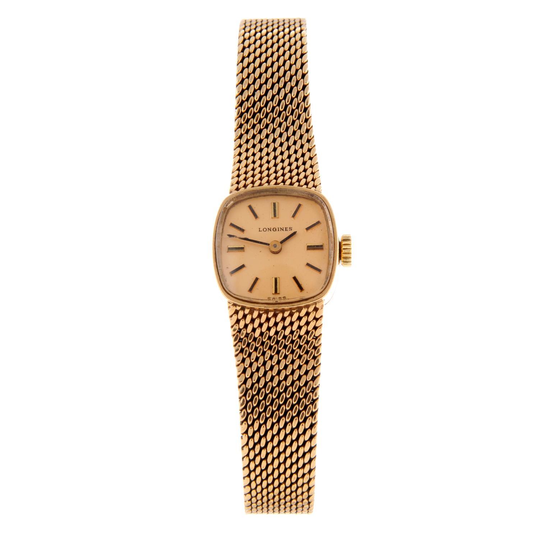 LONGINES - a bracelet watch.