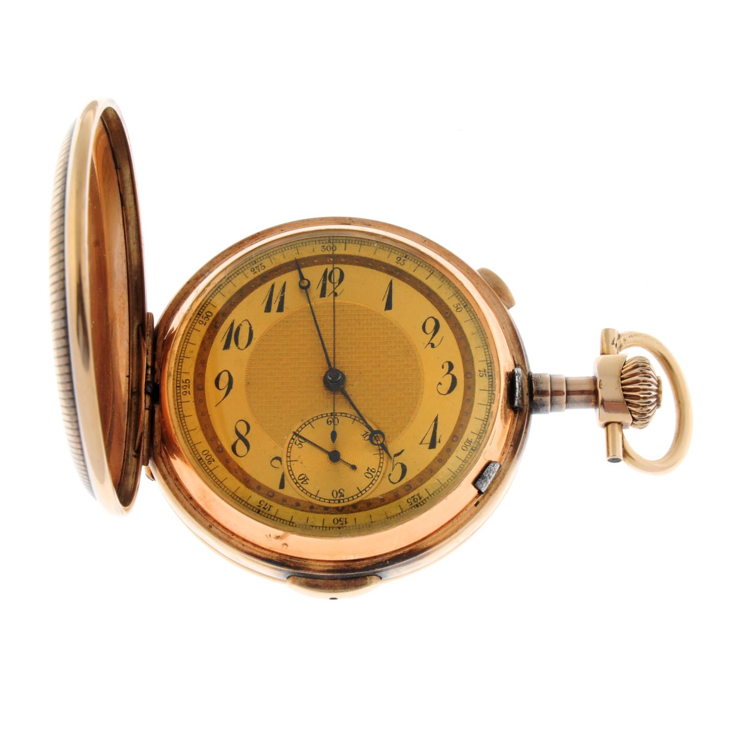 A full hunter chronograph repeater pocket watch.